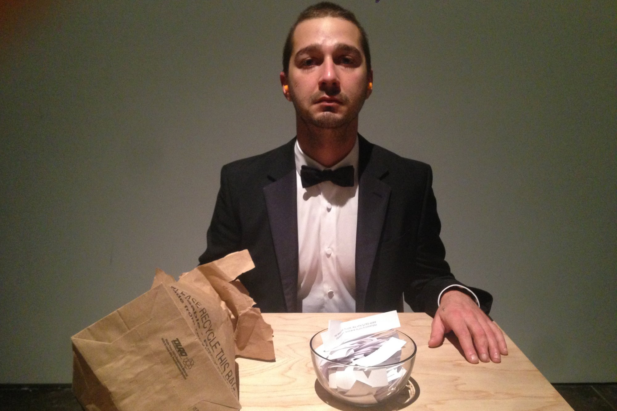 I Watched Shia LaBeouf Cry at His Weird LA Art Project #IAMSORRY - The Daily Beast