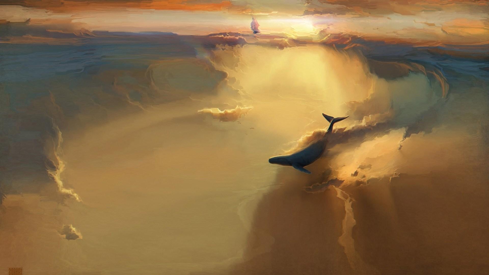 Ship Whale Artwork