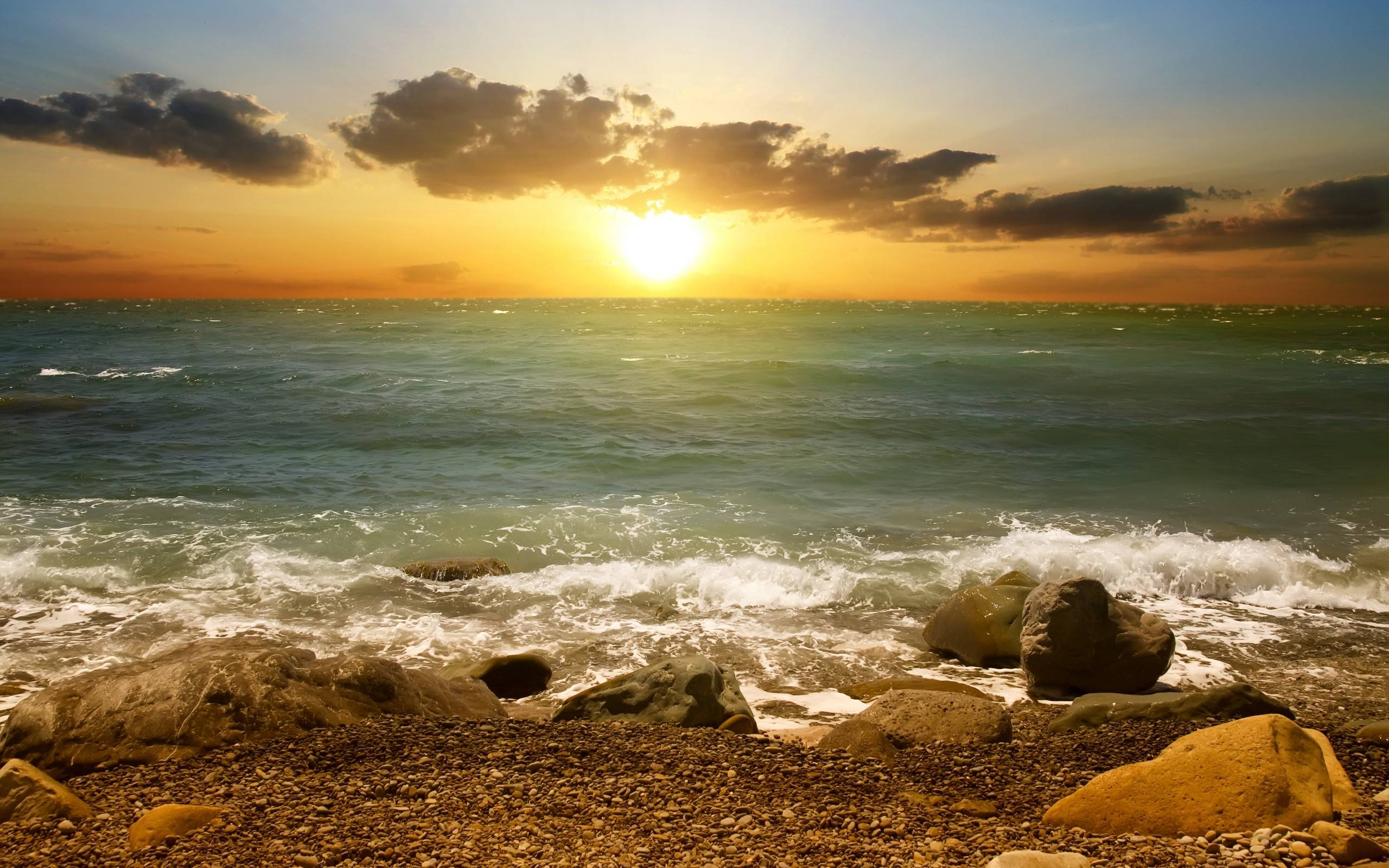View and Download Sunset Shore Wallpaper ...