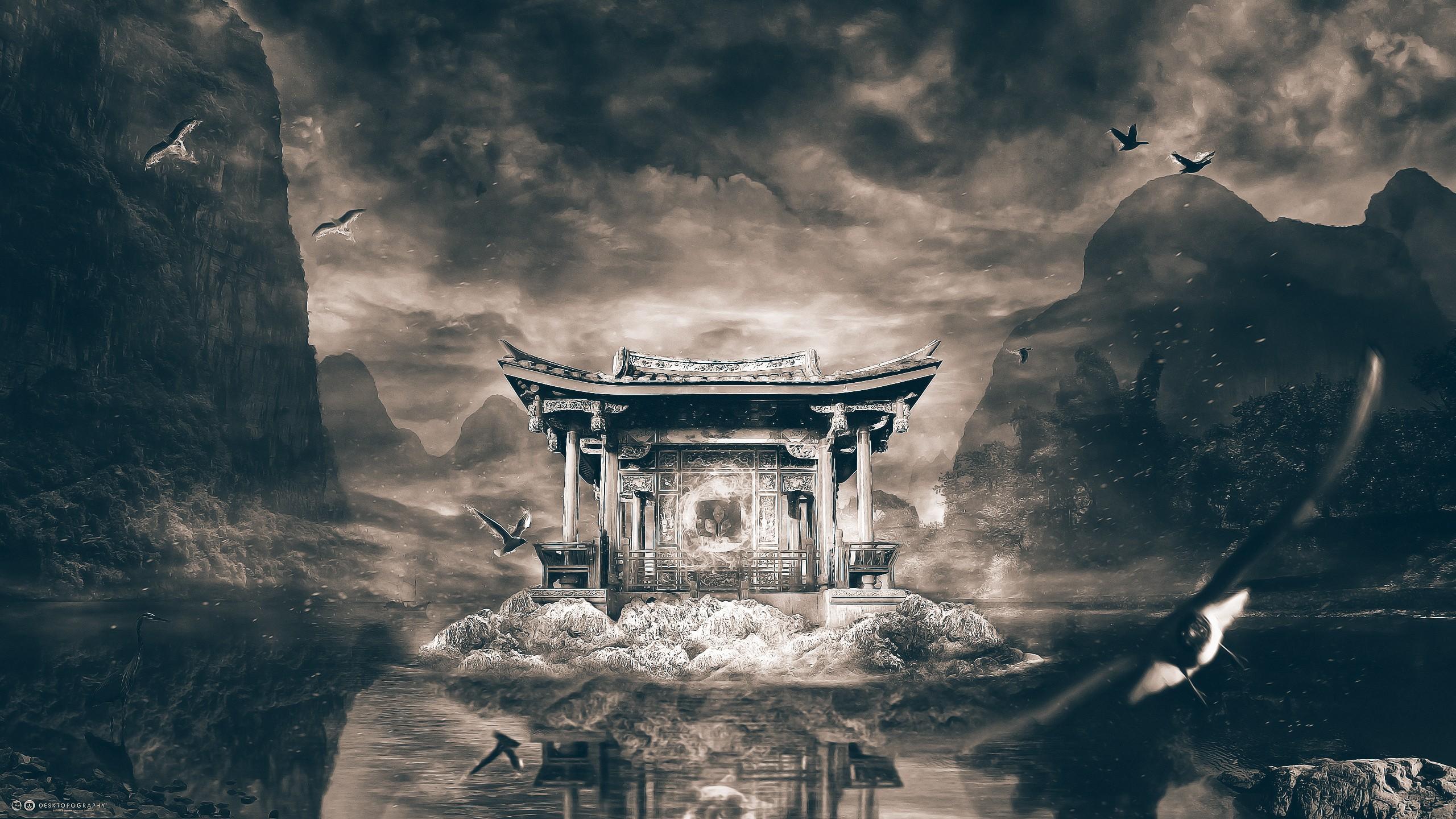 Shrine Temple Art Wallpaper 2560x1440 10980
