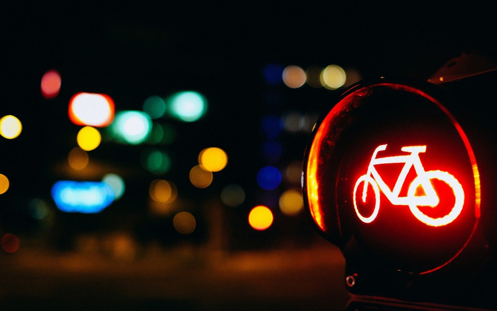 Sign Bicycle Red Light City