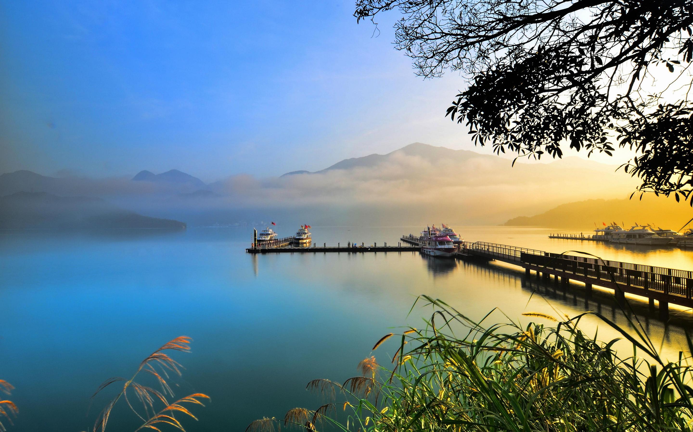 Silent lake boat dock