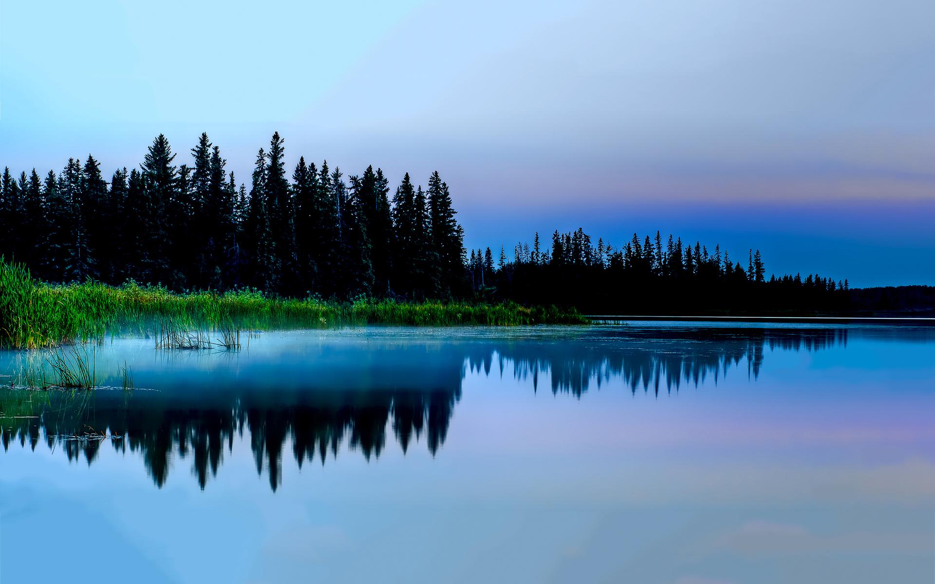 Silent lake evening