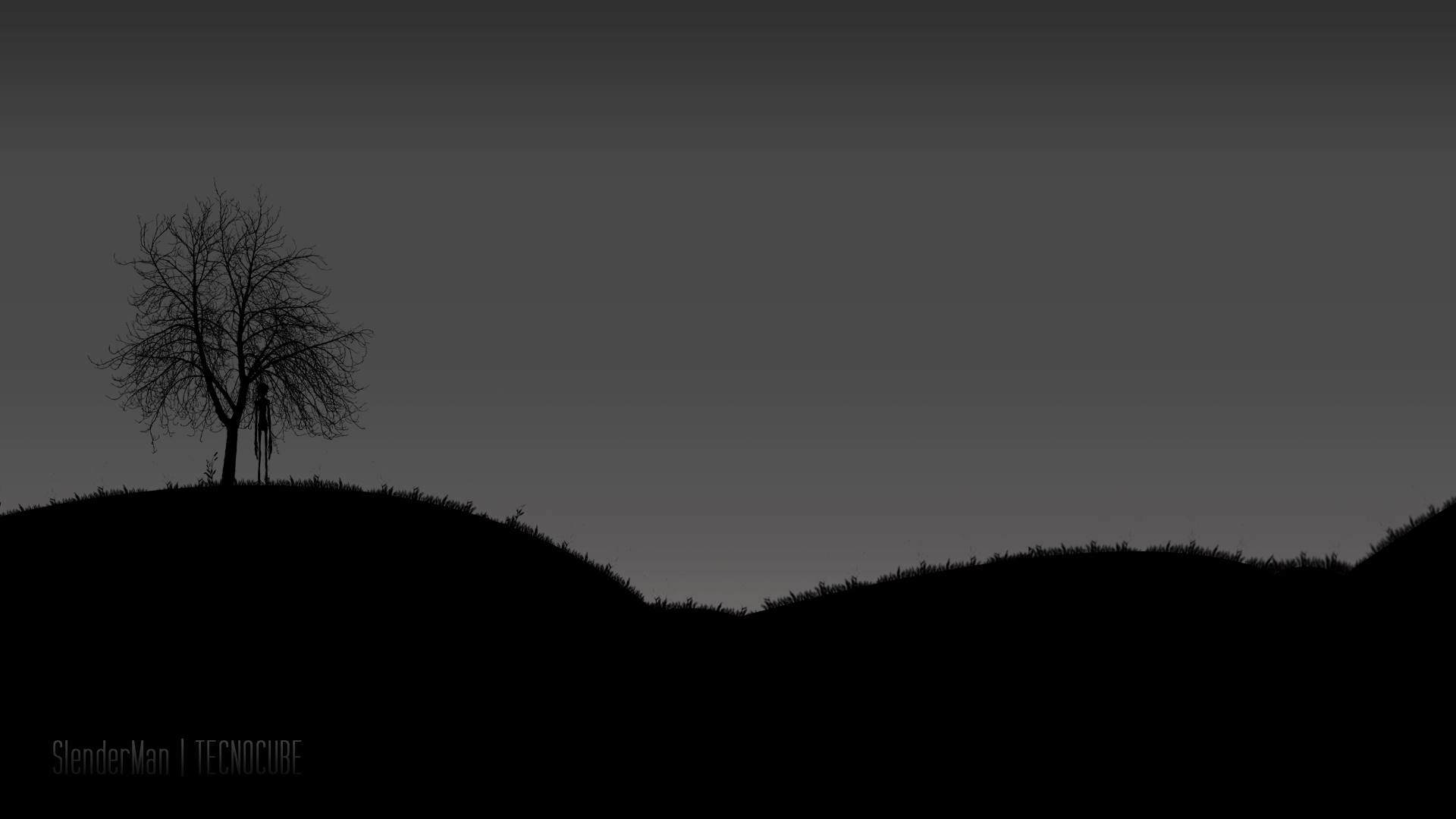 Slenderman silhouette background by TECNOCUBE Slenderman silhouette background by TECNOCUBE