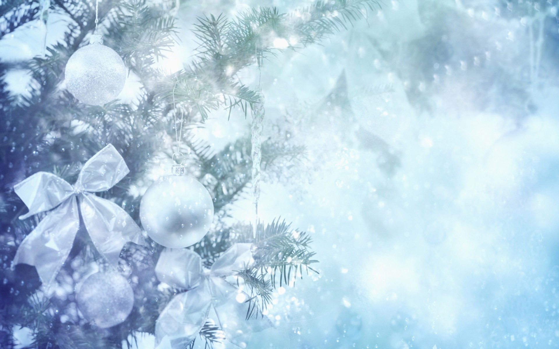 Silver Holidays Background