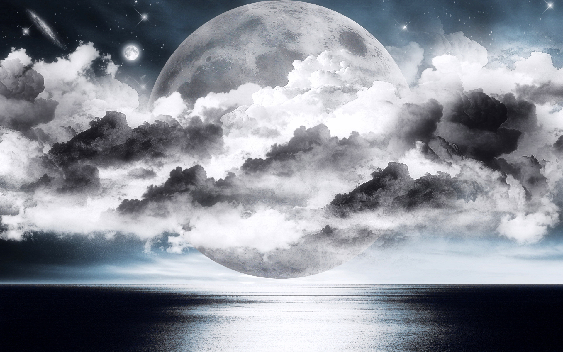 Silver Moon Wallpaper