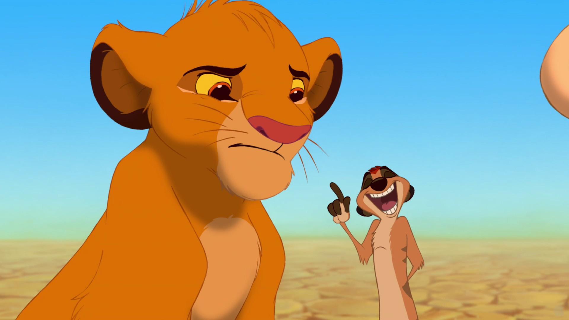 Simba and Timon - The Lion King wallpaper