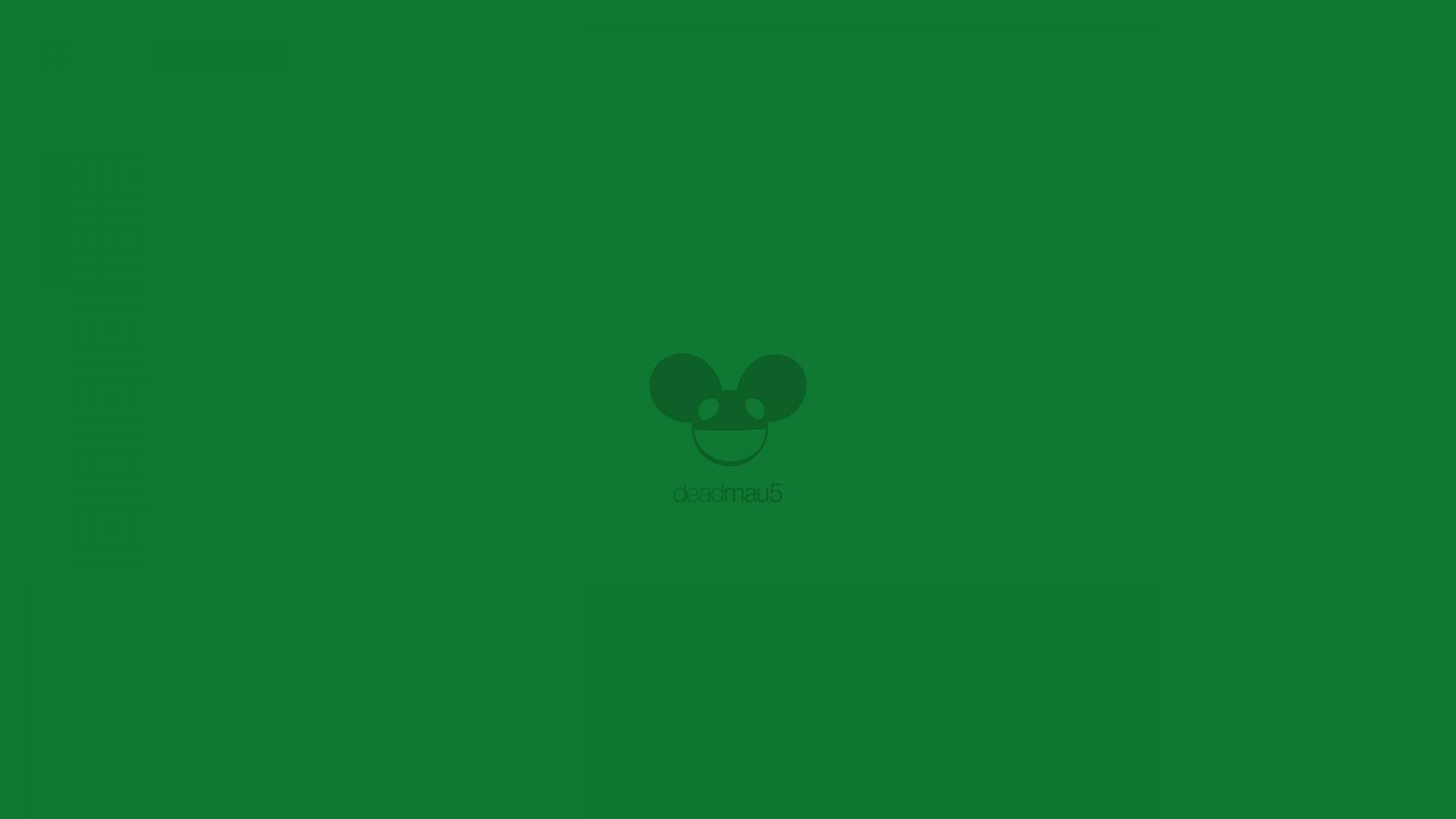 Minimalistic deadmau5 simple green text wallpaper