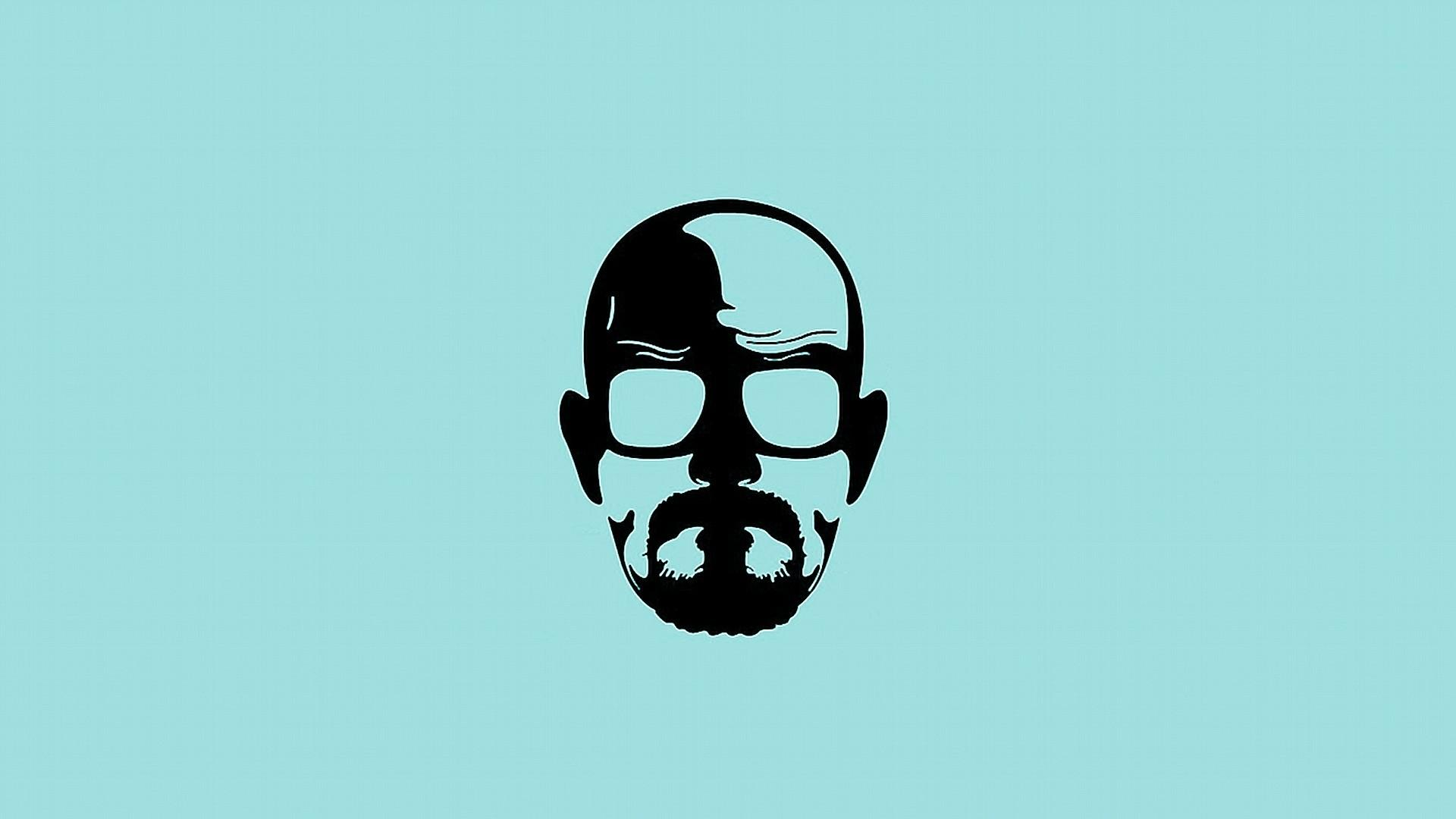 Blue minimalistic breaking bad walter white simple background wallpaper