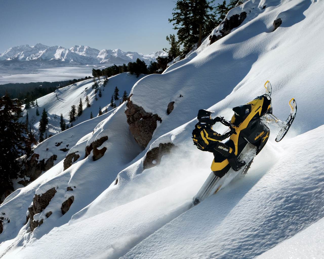 Skidoo High mark. Free winter desktop wallpaper