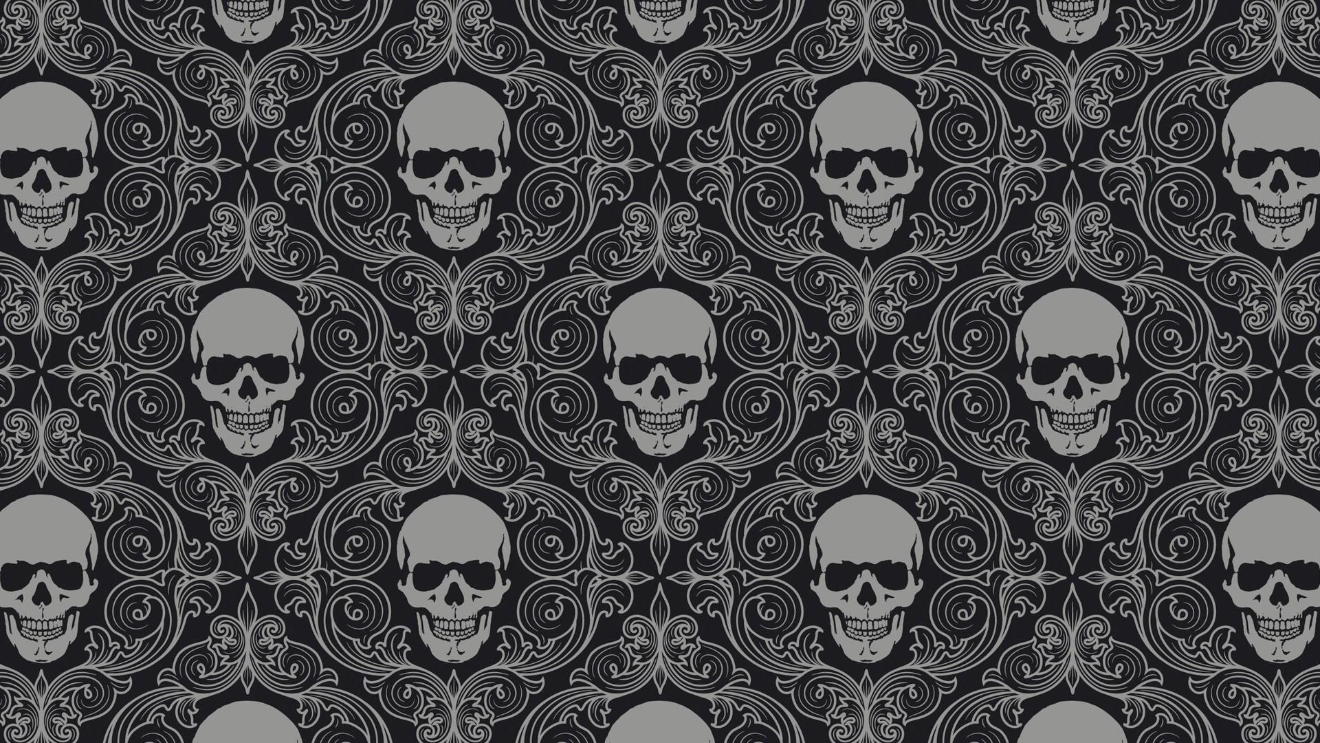 Skull Pattern Wallpaper