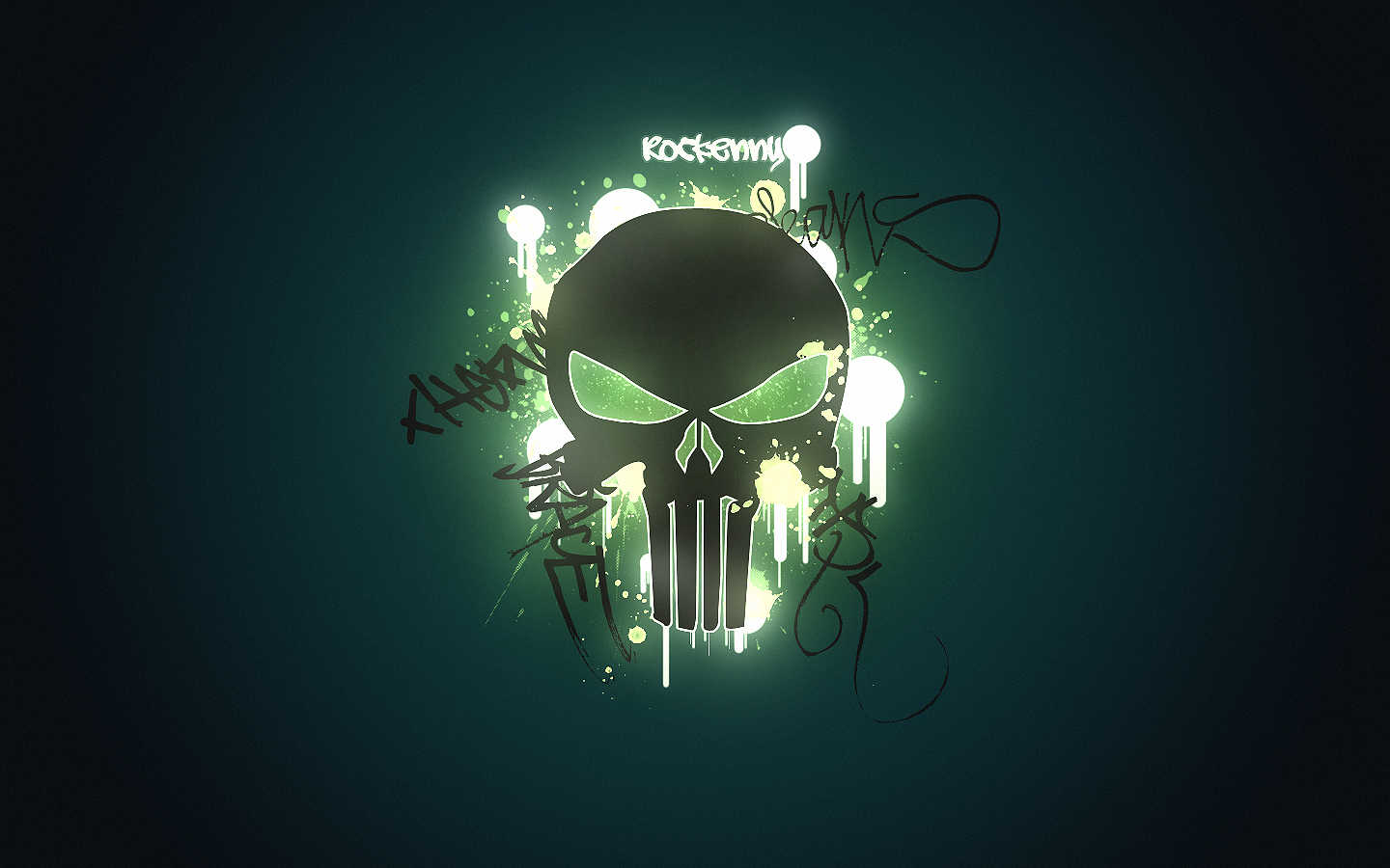 Graffiti Punisher Skull Desktop Wallpaper