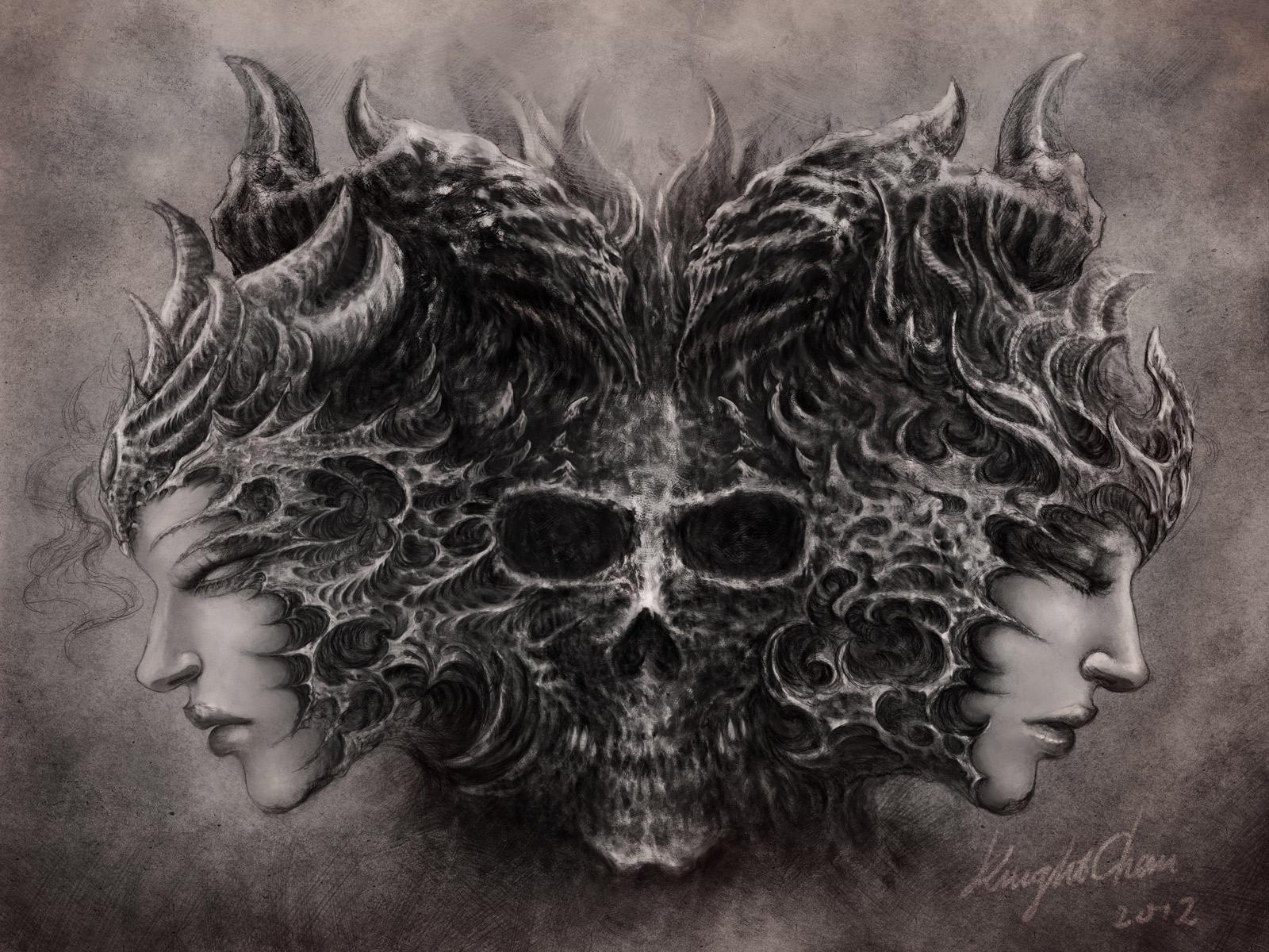 Skull Wallpaper 163 For Home Design Backgrounds