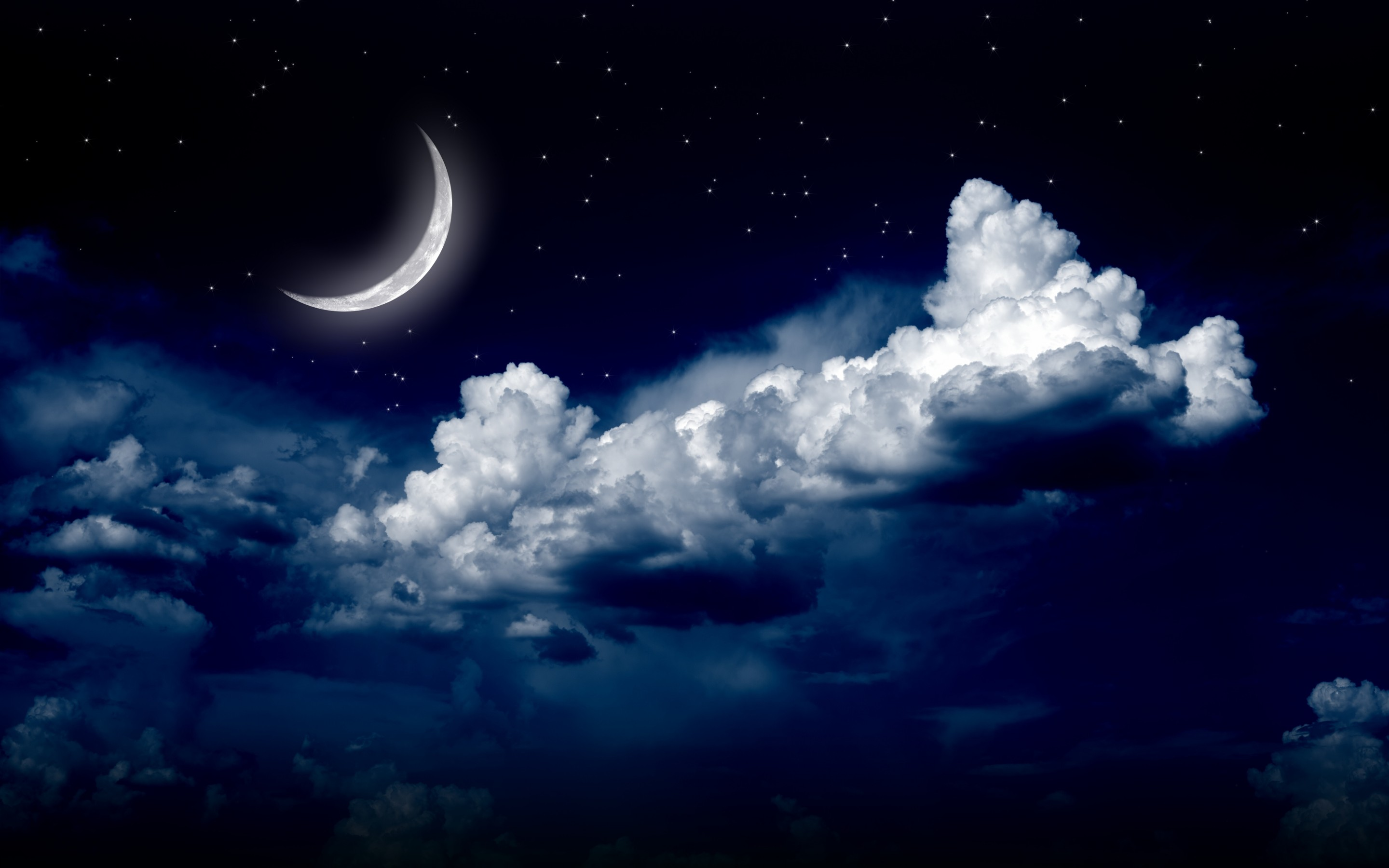 moonlight moon night nature landscape clouds stars sky g wallpaper background