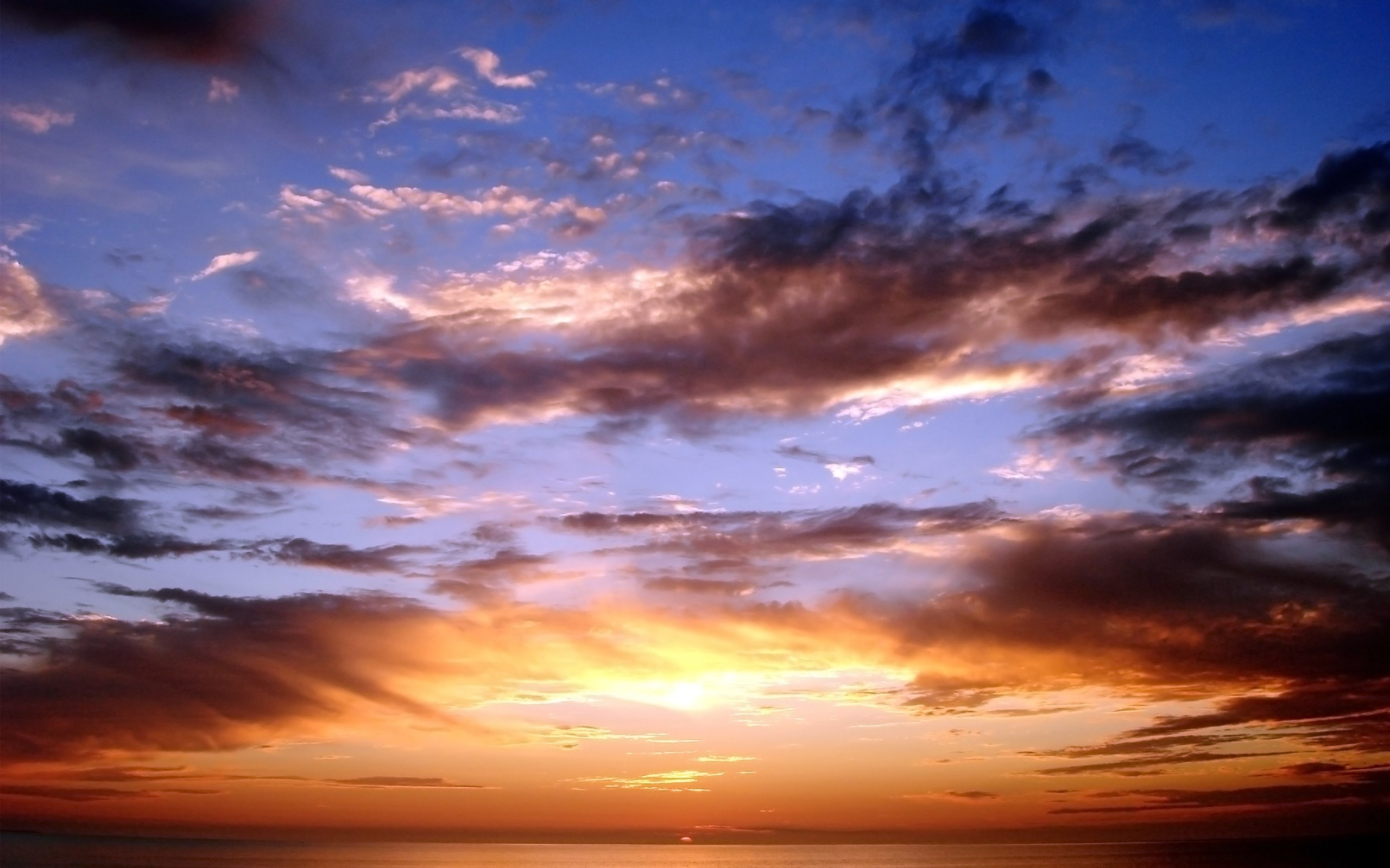 ... Sunset, Clouds, Sea, Sky, Nature | Free HD wallpapers