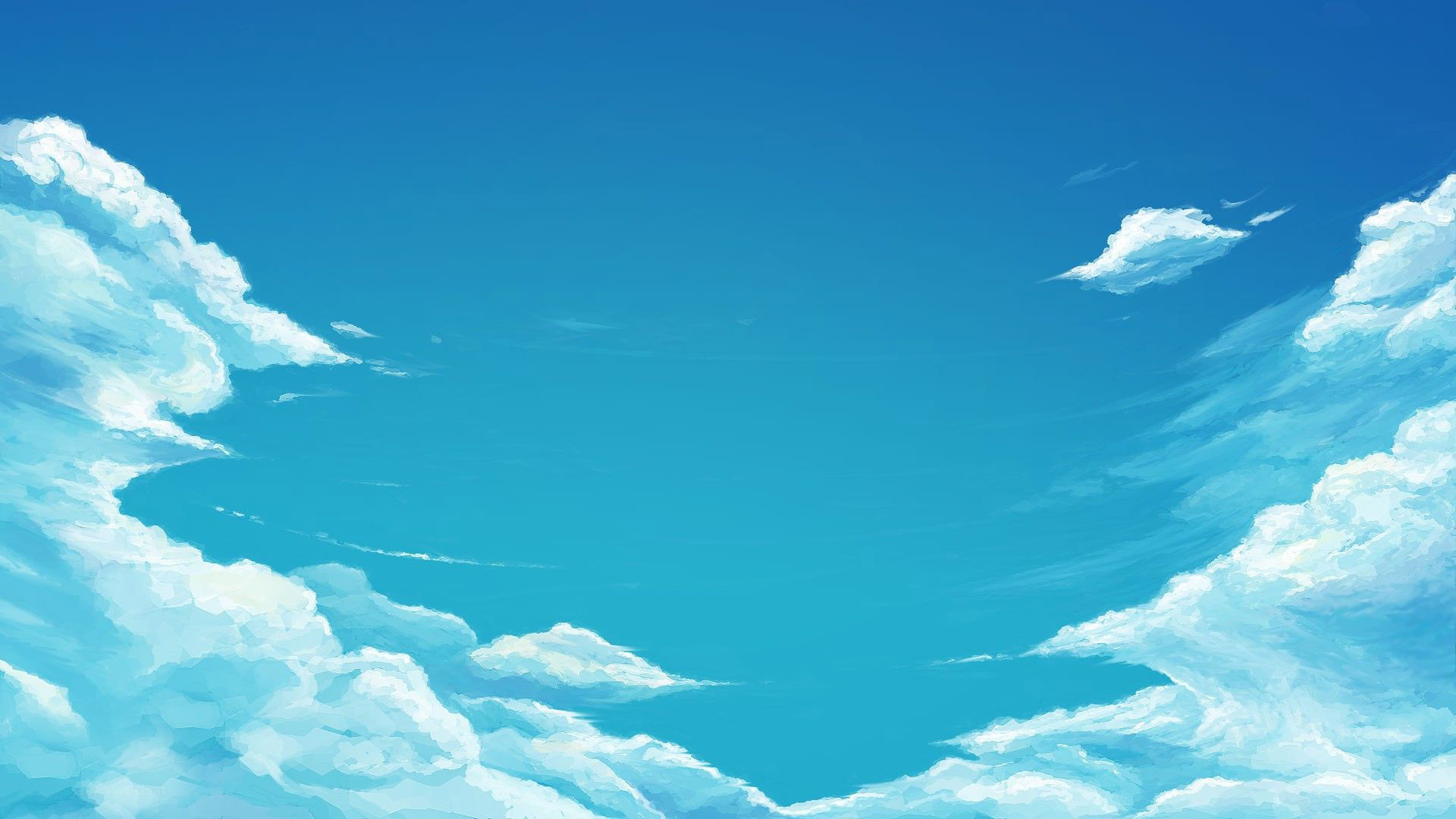 Blue sky wallpaper