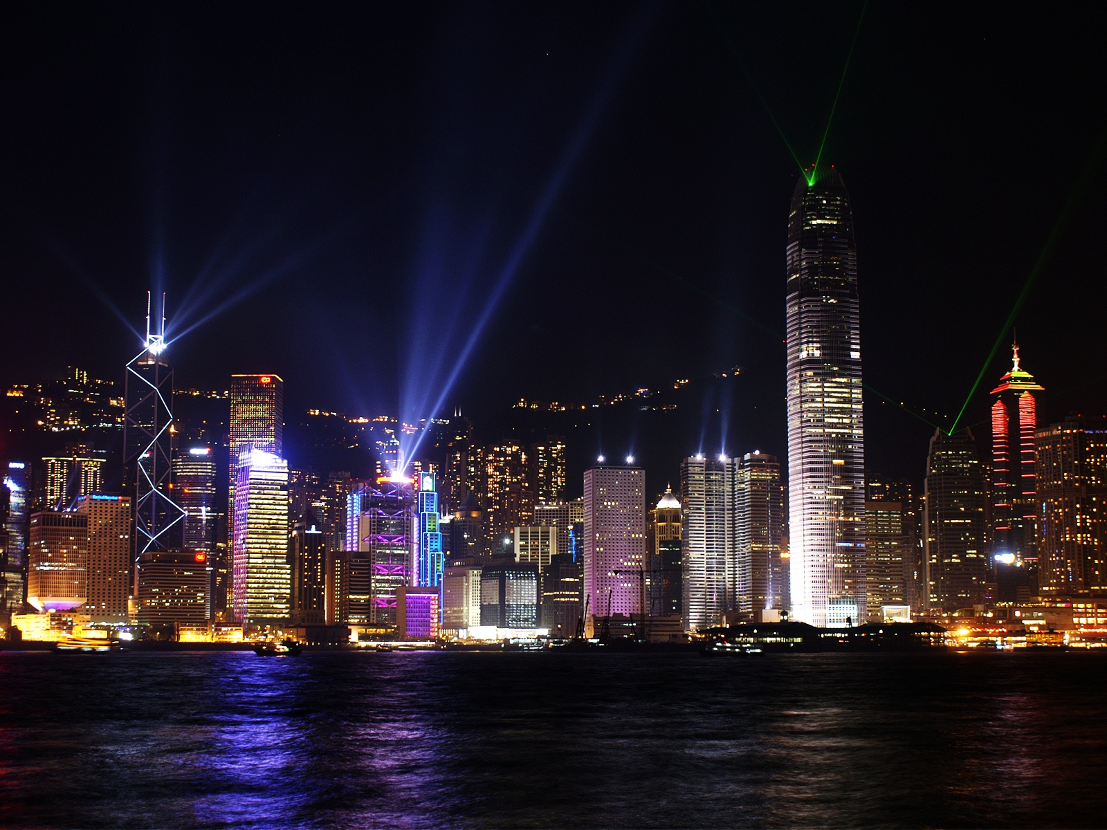 Hong Kong Night Skyline Wallpaper 39007