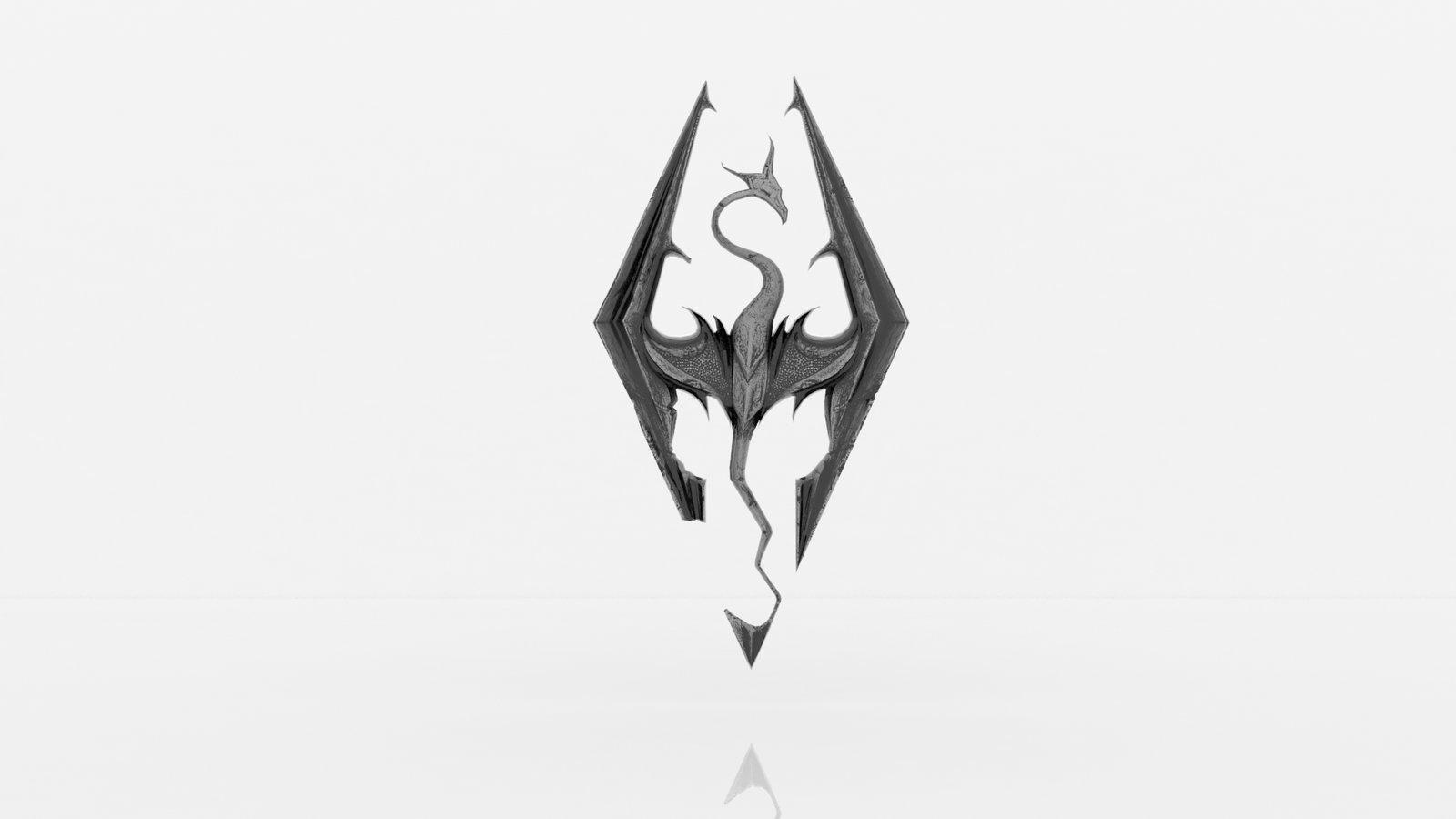Skyrim Logo High Resolution Wallpapers