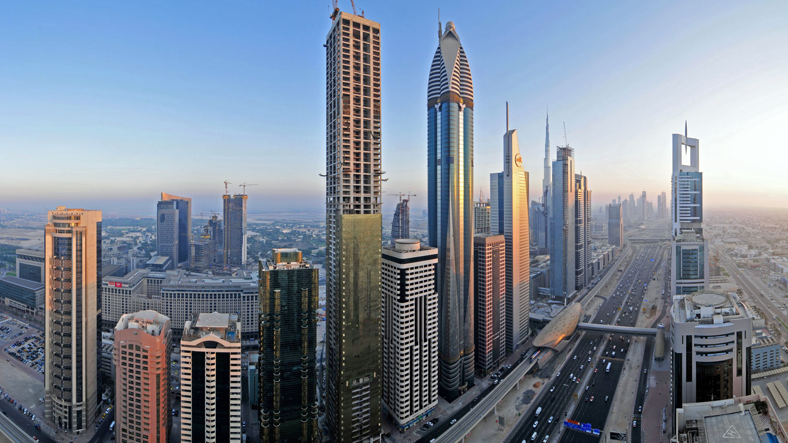 Dubai Skyscraper Street wallpaper