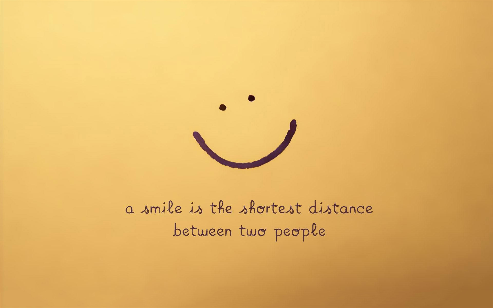Smile is shortest distance