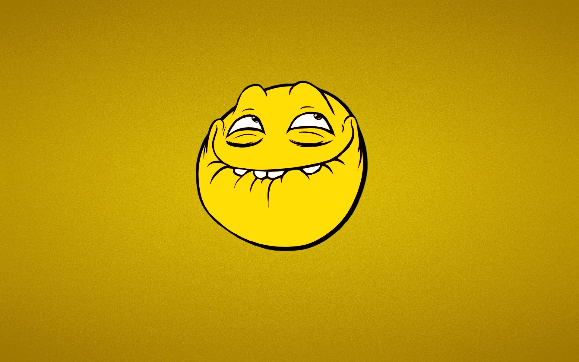 Smile Trollface Yellow Cartoon