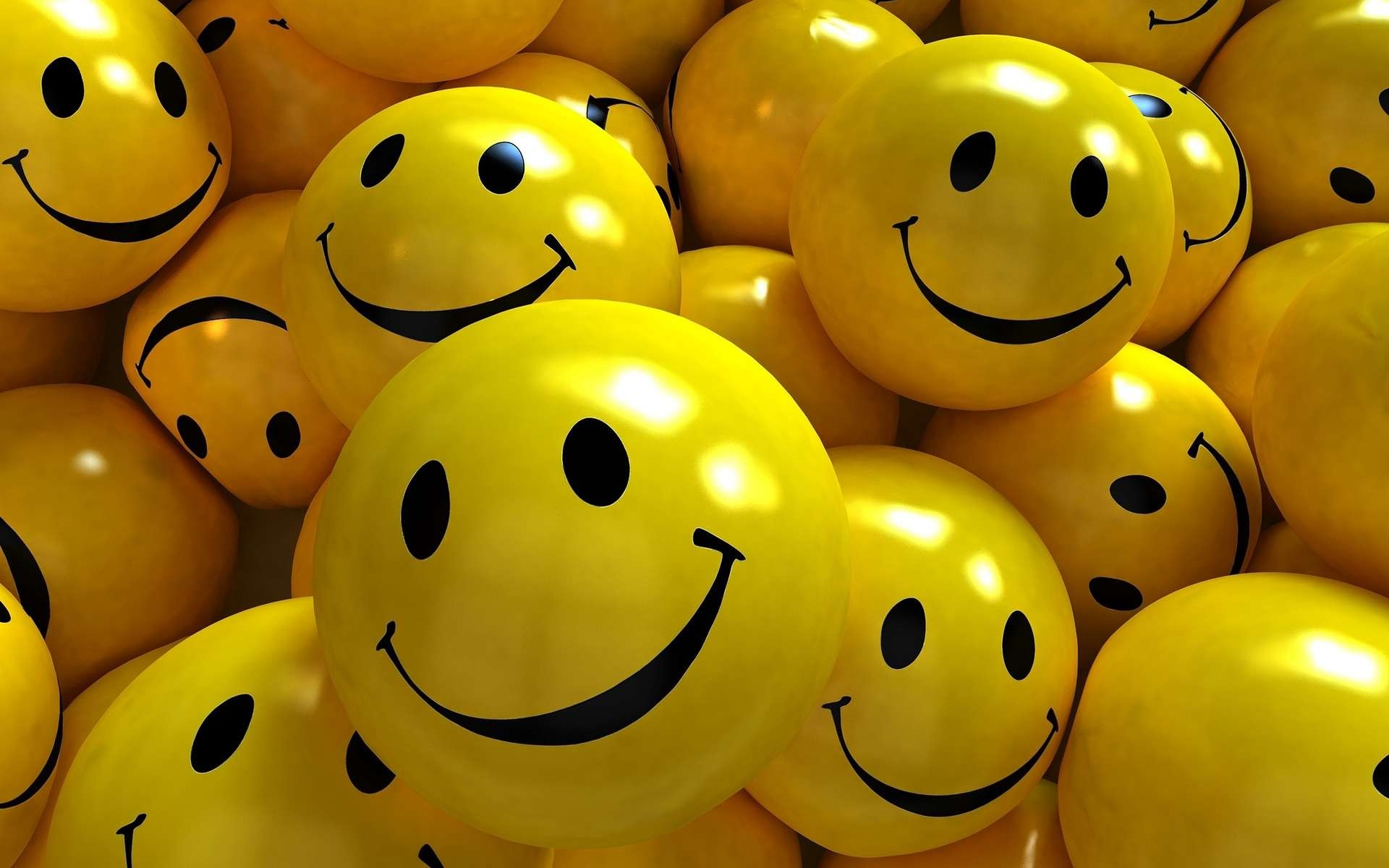 3D Smiley Face Wallpaper 2456