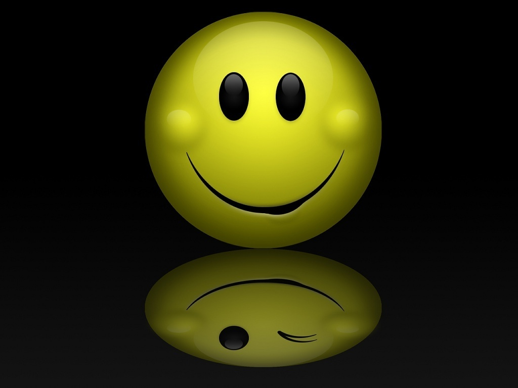 KEEP SMILING Smiley Wallpaper