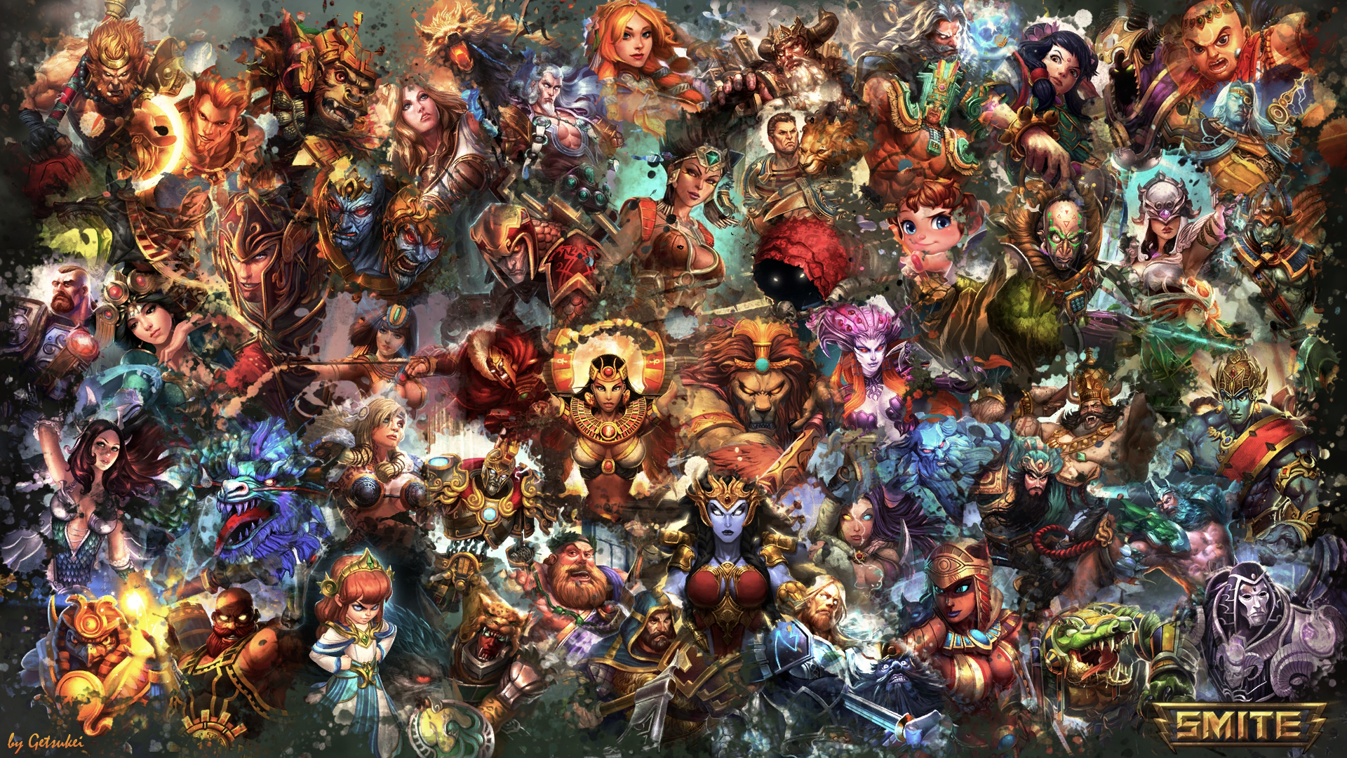 ... SMITE - All Gods Wallpaper (Serqet Edition) by Getsukeii