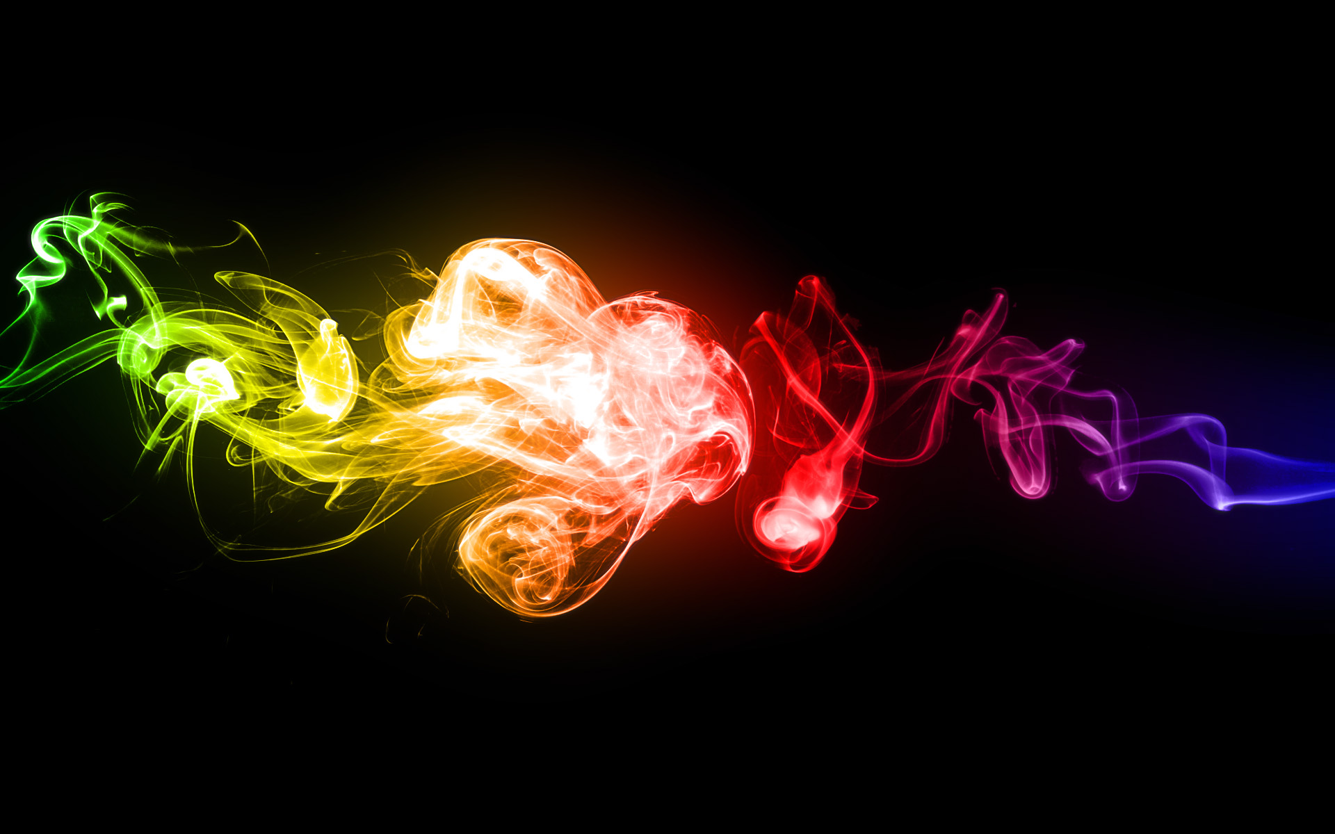 Smoke Wallpaper Hd Rainbow