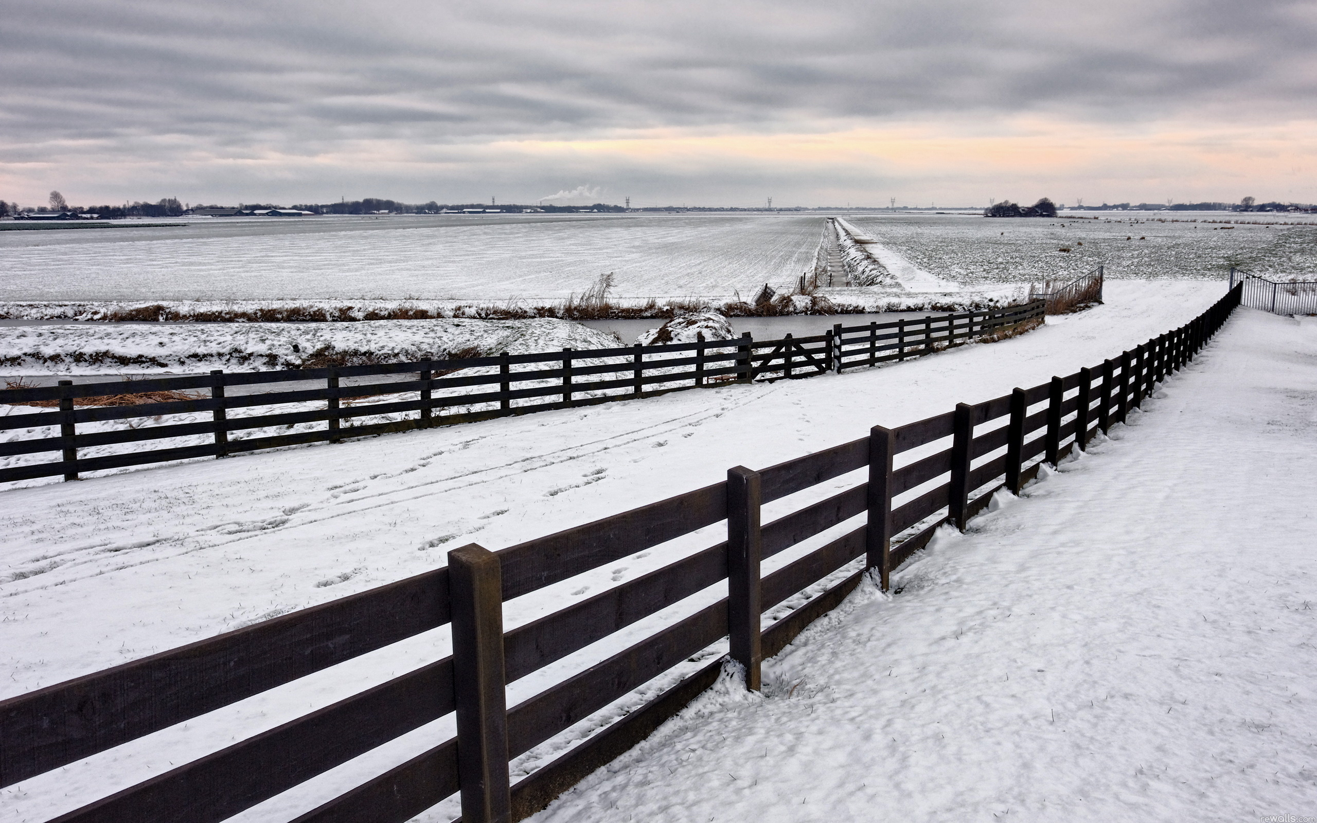 Snow Fence Background