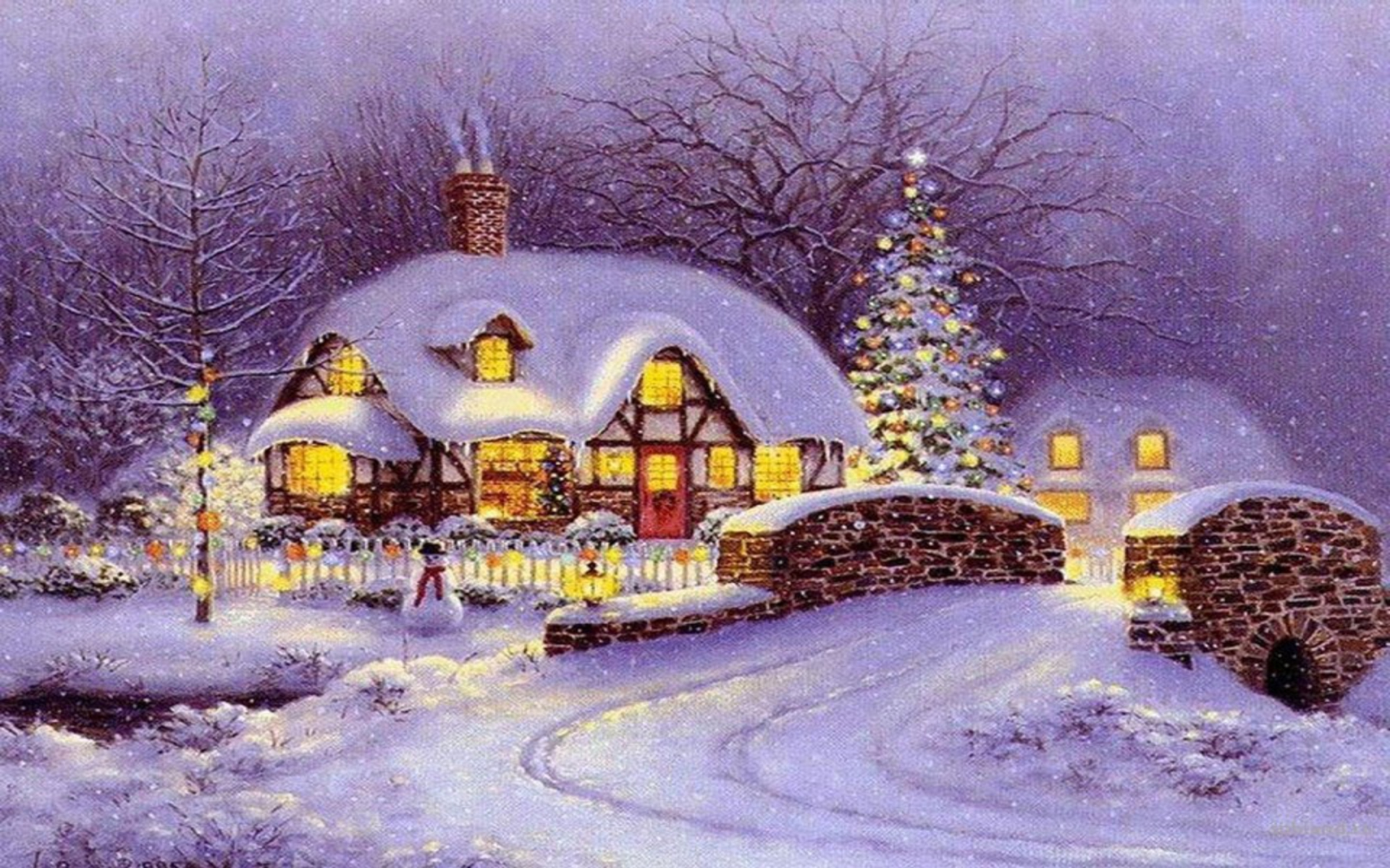 Snow house christmas