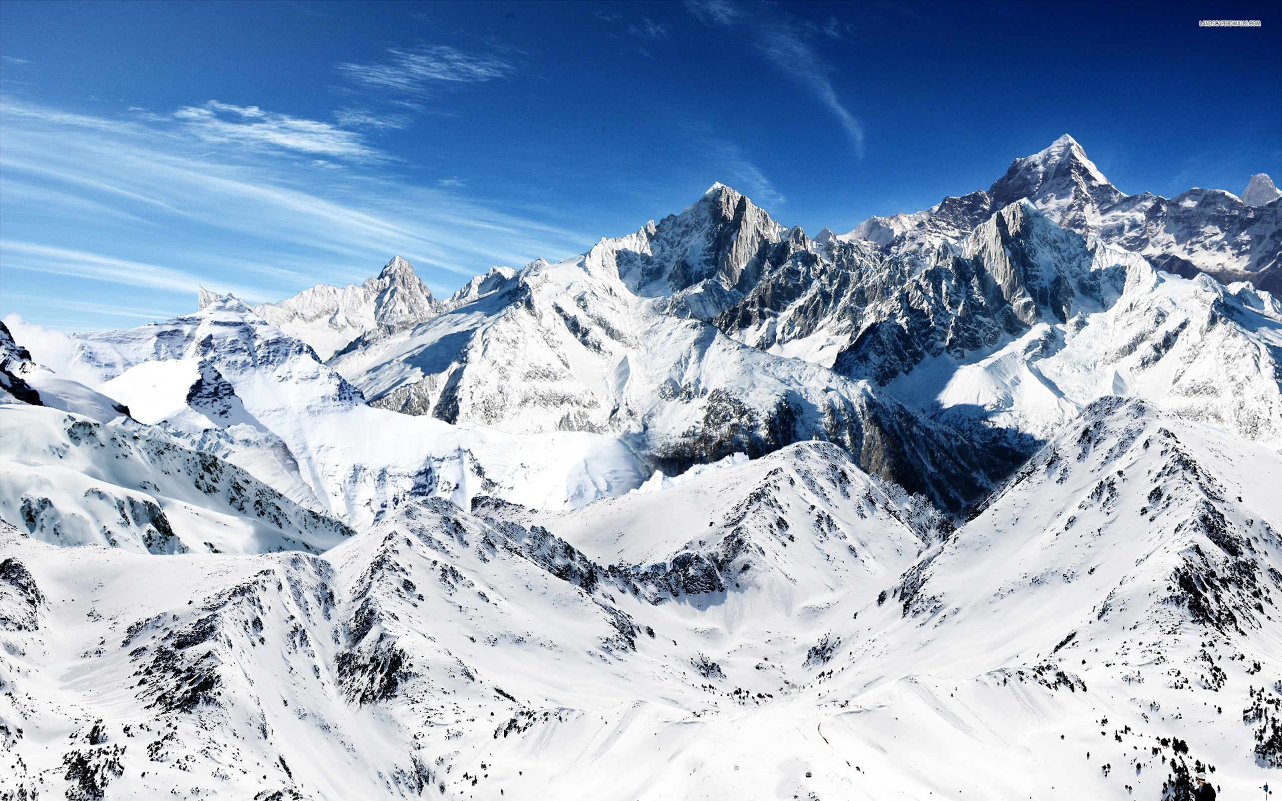 Beautiful Snow Mountain Wallpaper for Desktop