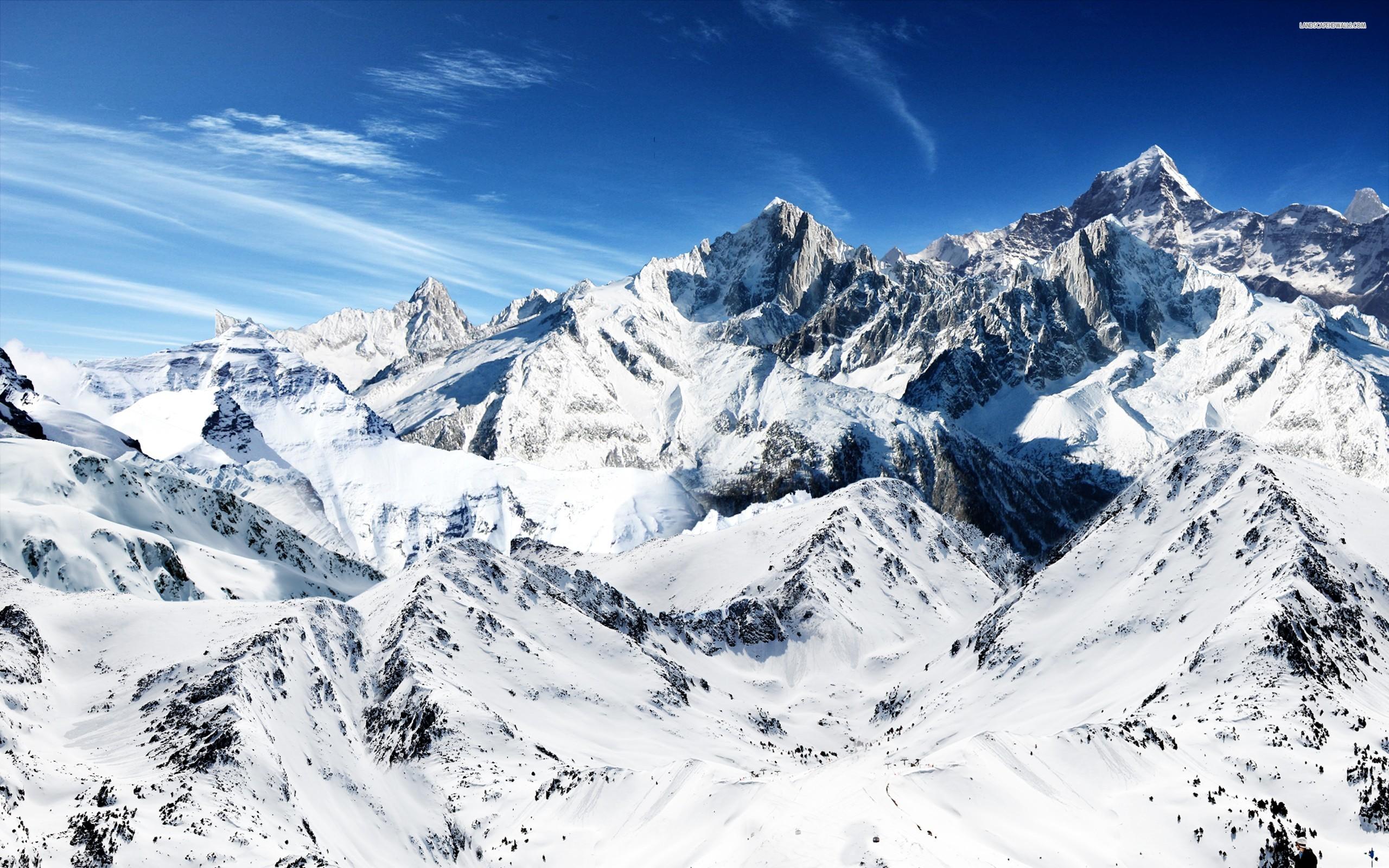 Beautiful Snow Mountain Wallpaper for Desktop