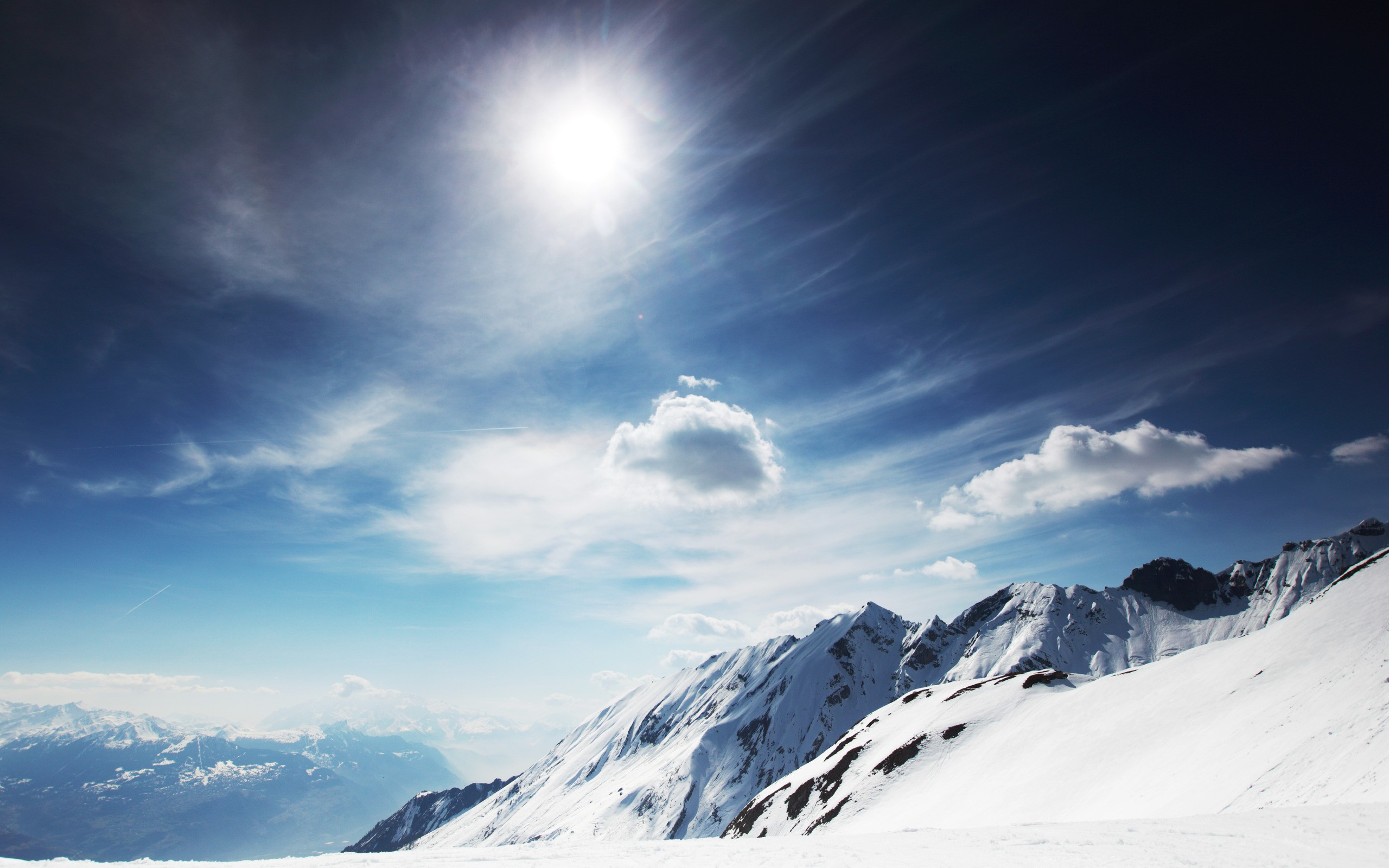 Sunny Snowy Mountains Sunny Snowy Mountains Wallpapers | HD Wallpapers