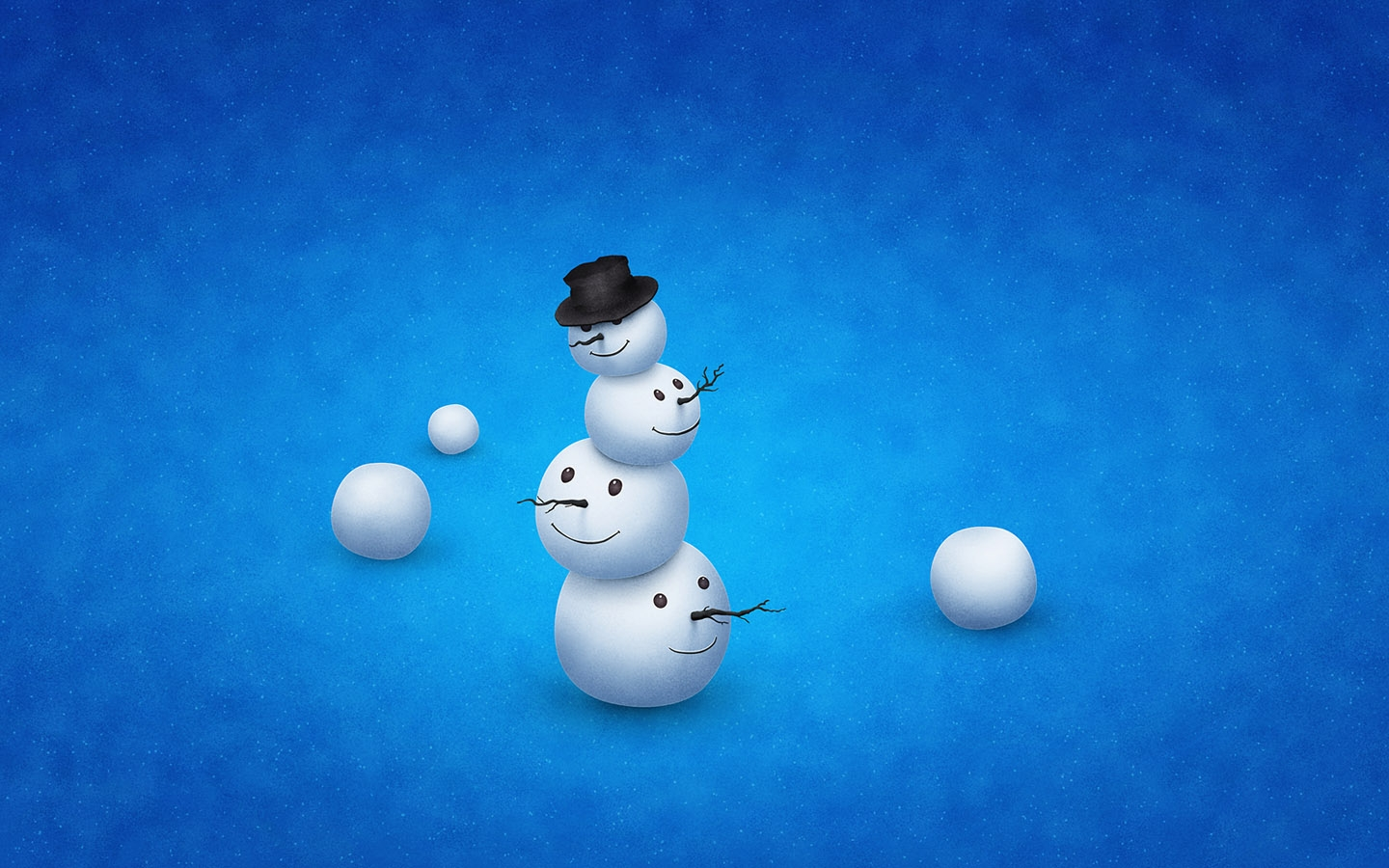 Snowman Art Wallpaper