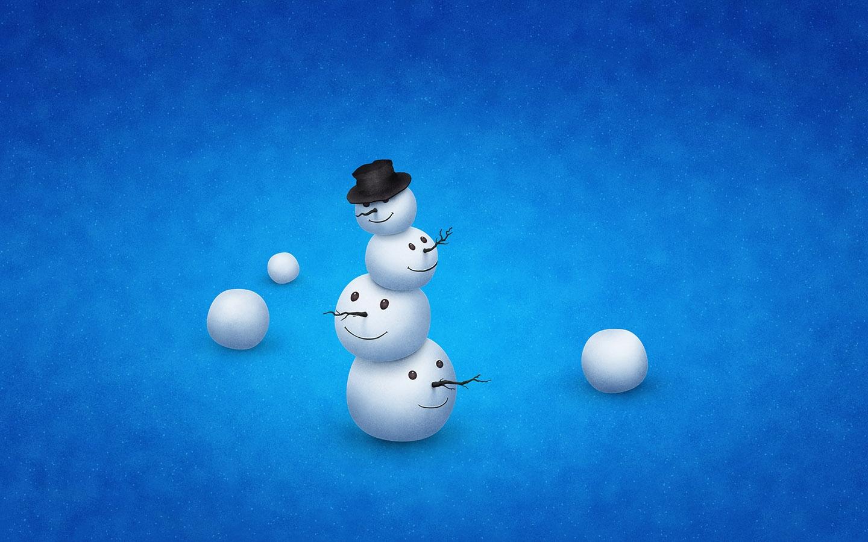 Snowman Art Wallpaper