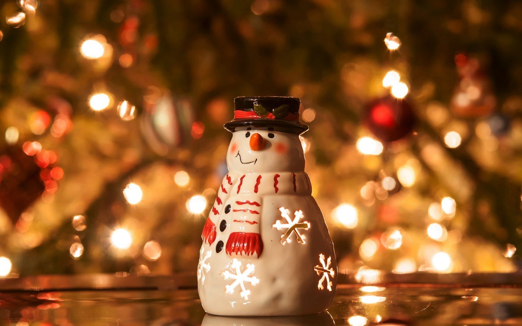 Snowman Candle Christmas Tree