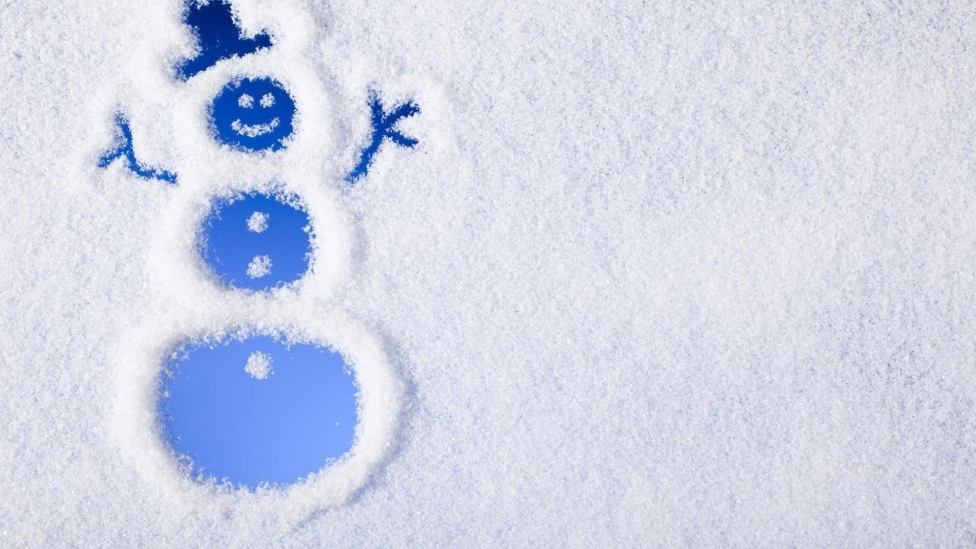Funny Snowman Wallpaper