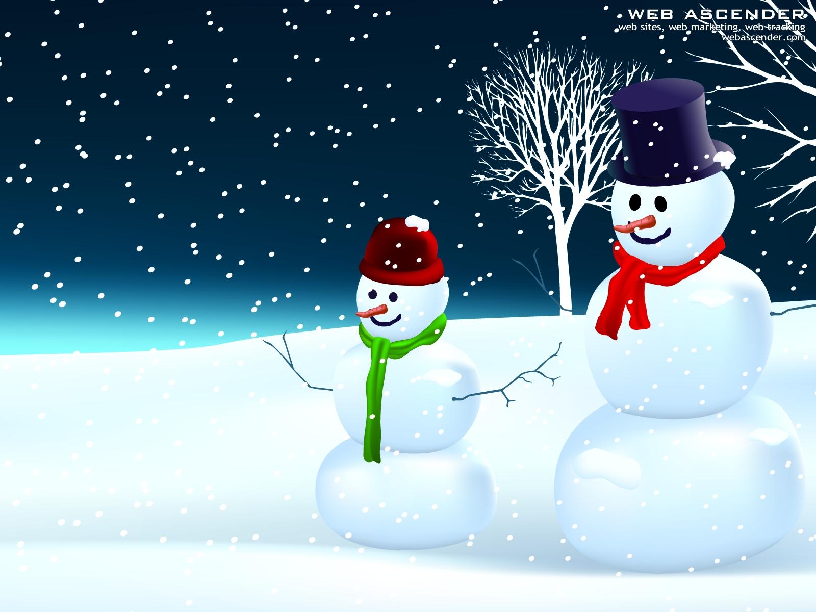snowman-wallpaper-1600x1200