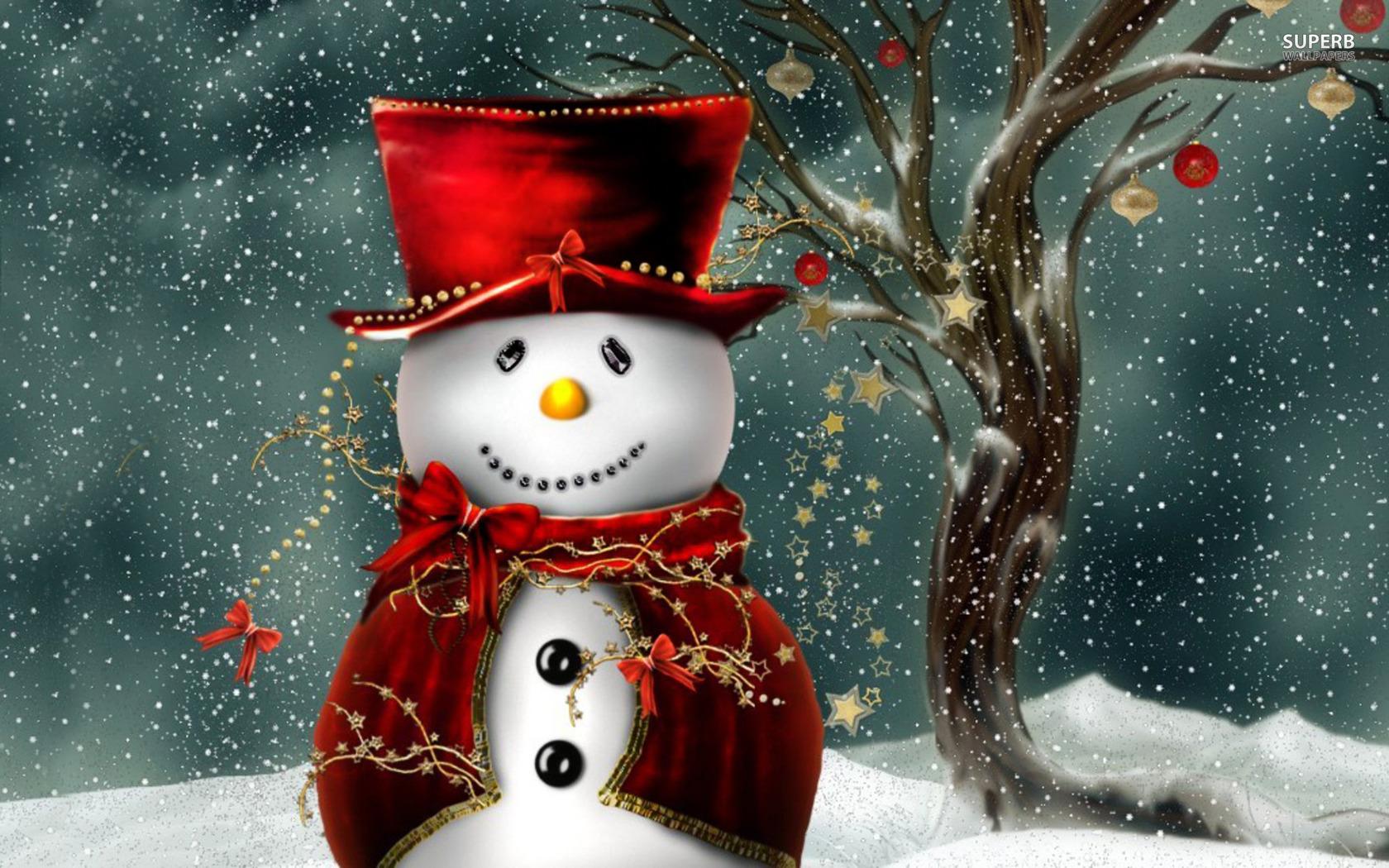 Snowman wallpaper 1680x1050