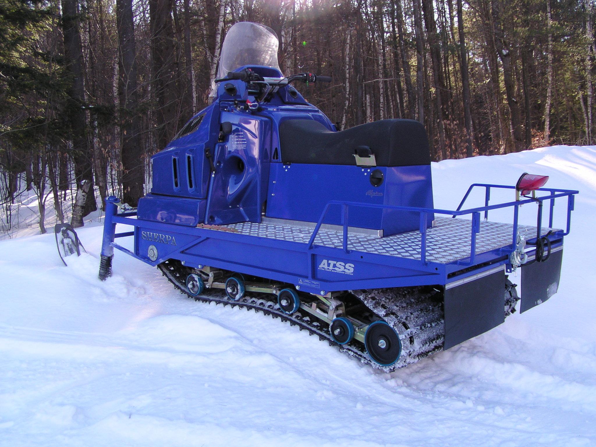 Alpina Sherpa, a dual track snowmobile