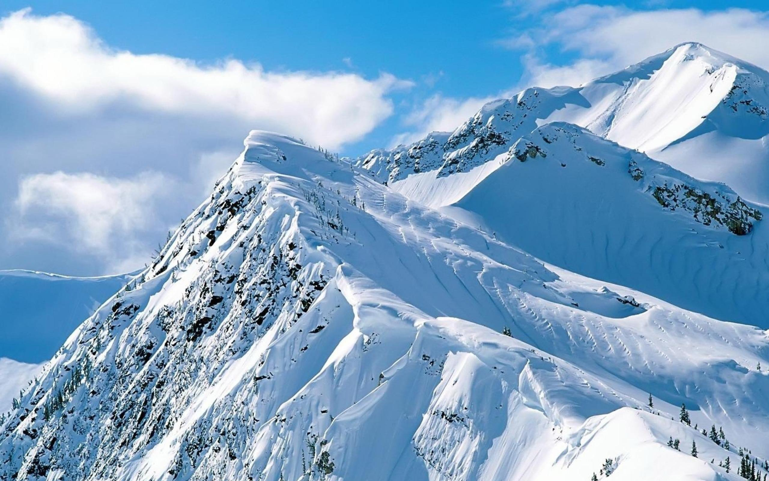 Snowy Mountain Peak Landscape New Wallpaper