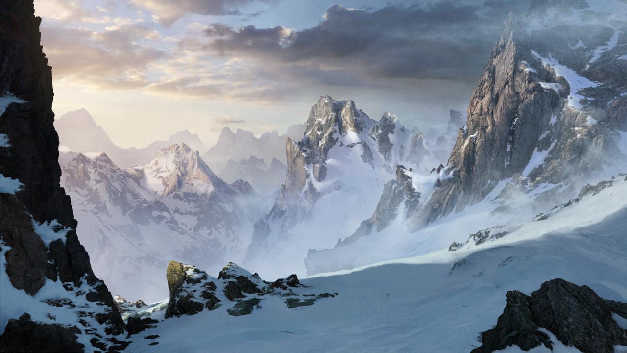 Snowy mountains by ARTek92 Snowy mountains by ARTek92