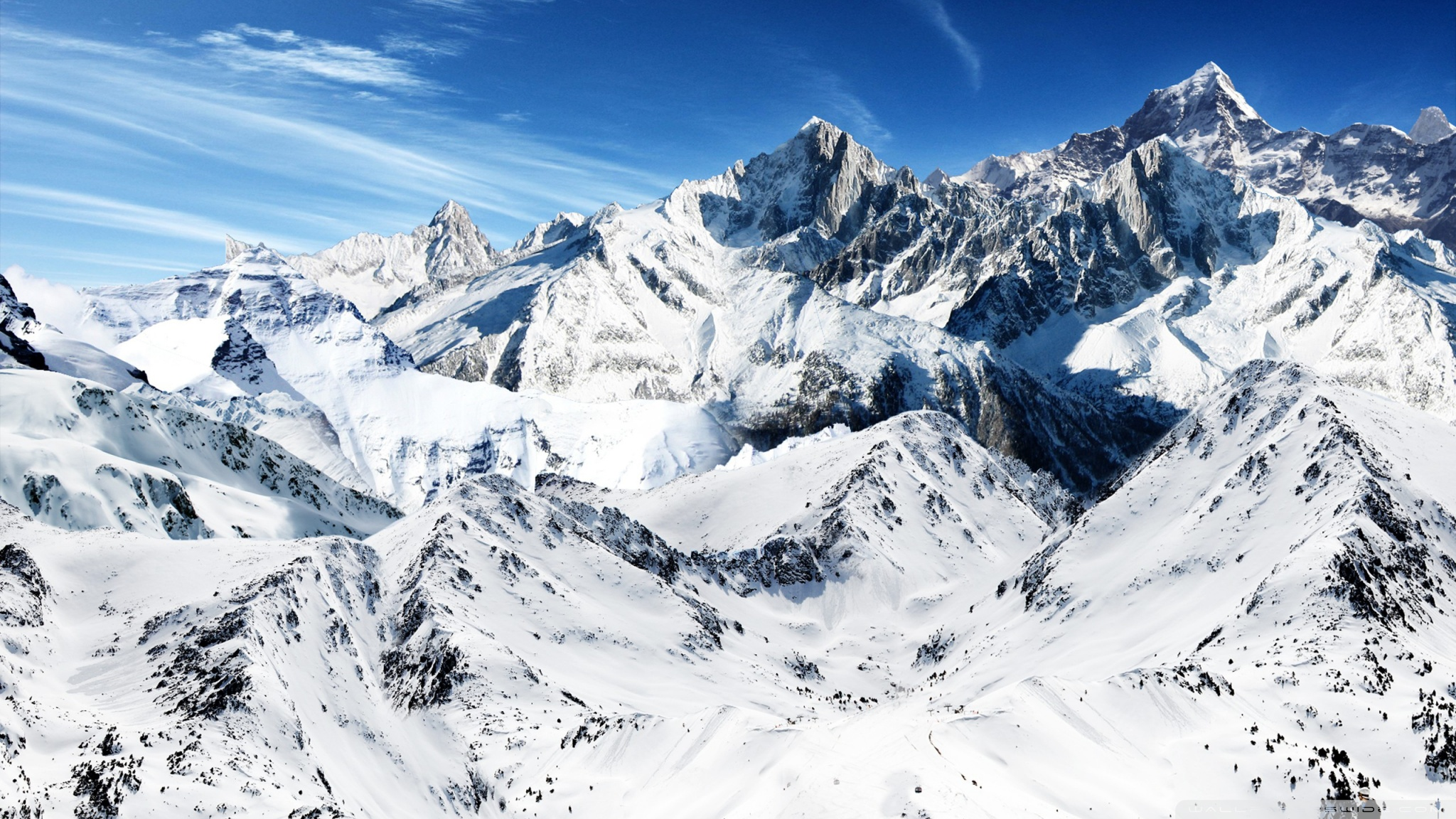 Snowy Mountains Wallpaper