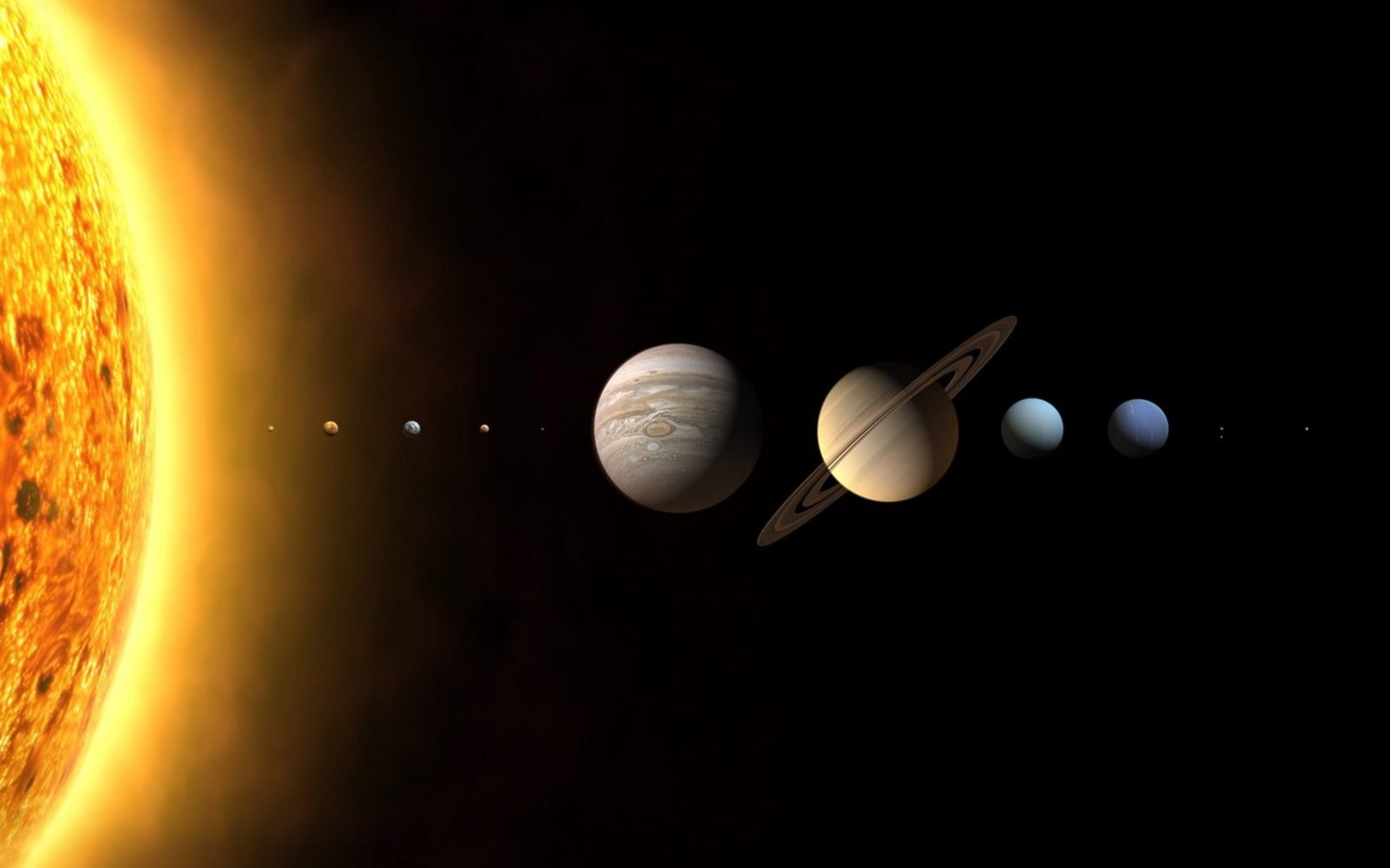 original wallpaper download: Solar System Planets - 1680x1050