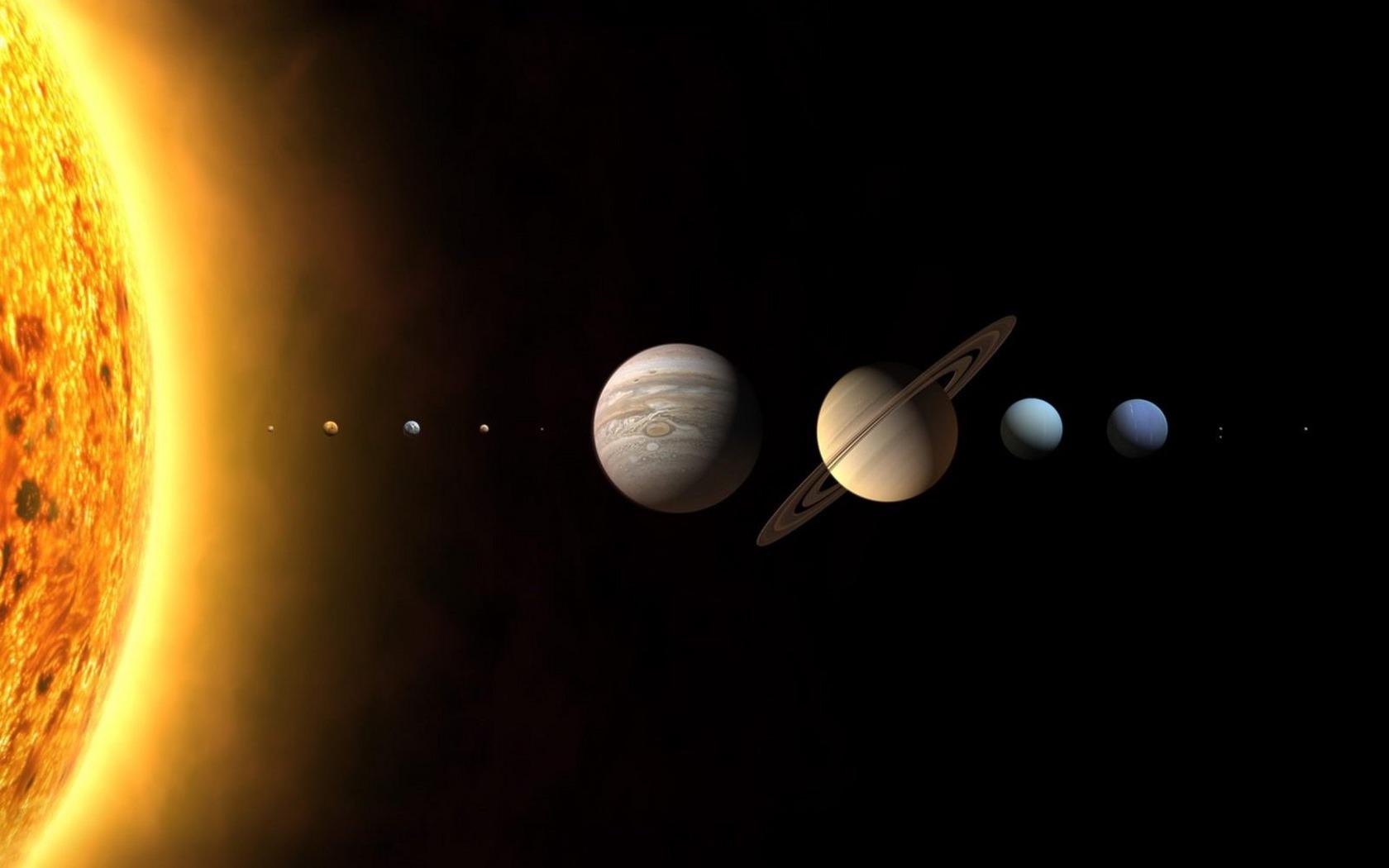 original wallpaper download: Solar System Planets - 1680x1050