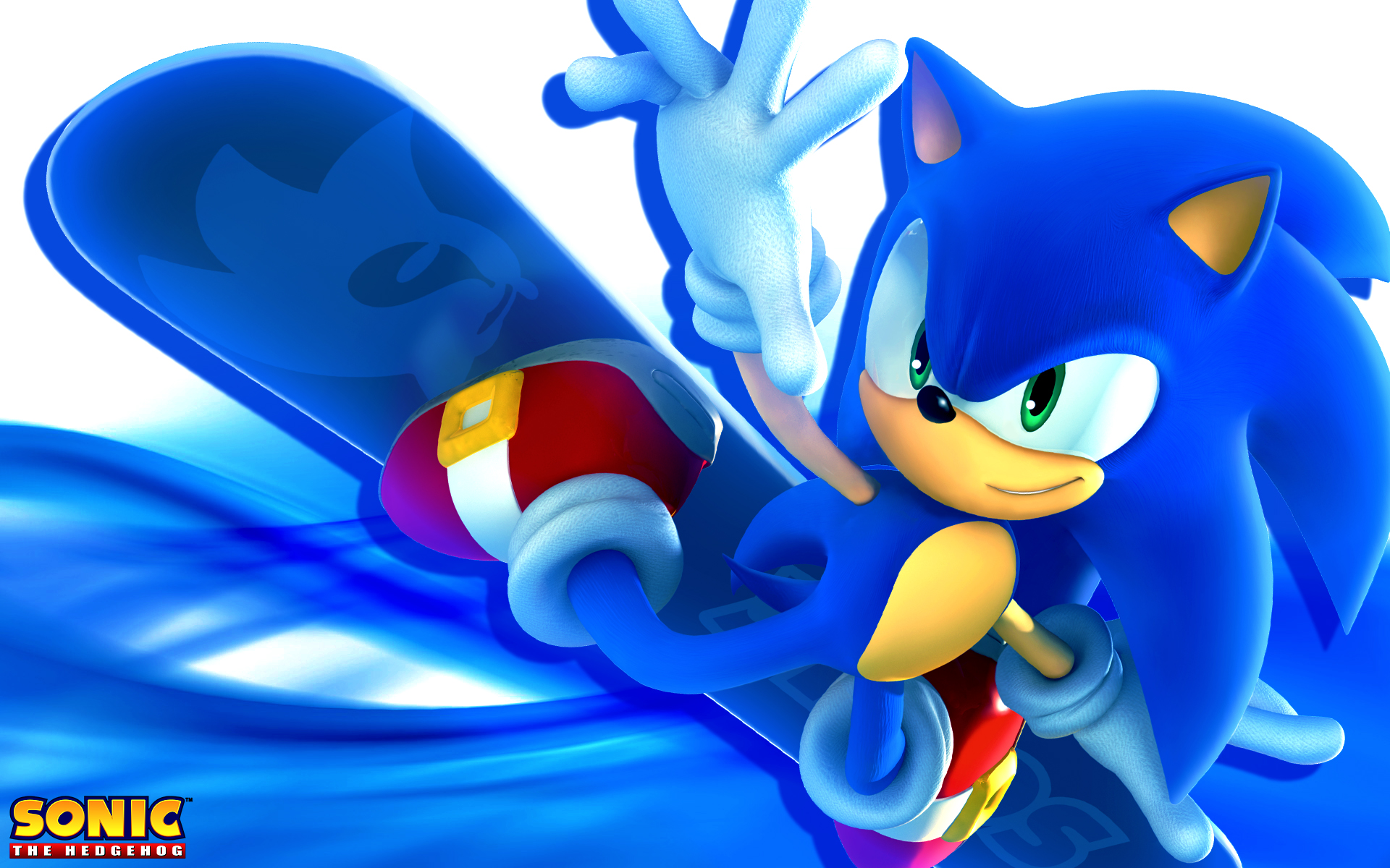 Sonic The Hedgehog Snowboarding Wallpaper by SonicTheHedgehogBG