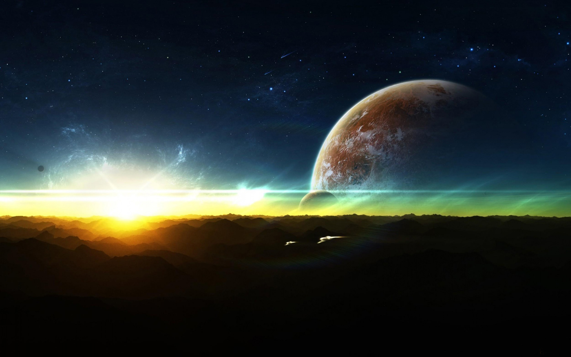 Space Abstract Sunrise