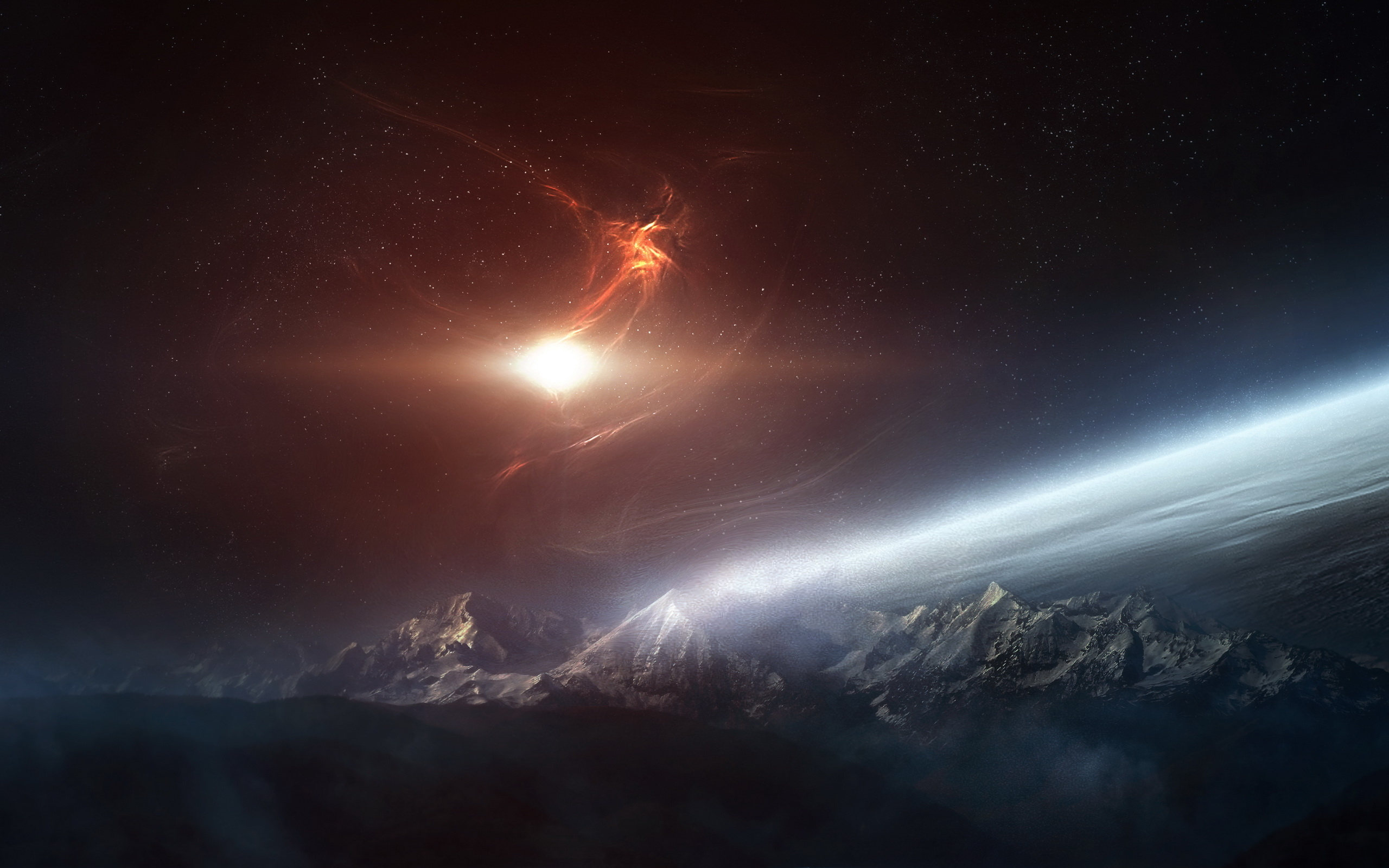 original wallpaper download: Atmosphere of the planet - 2560x1600
