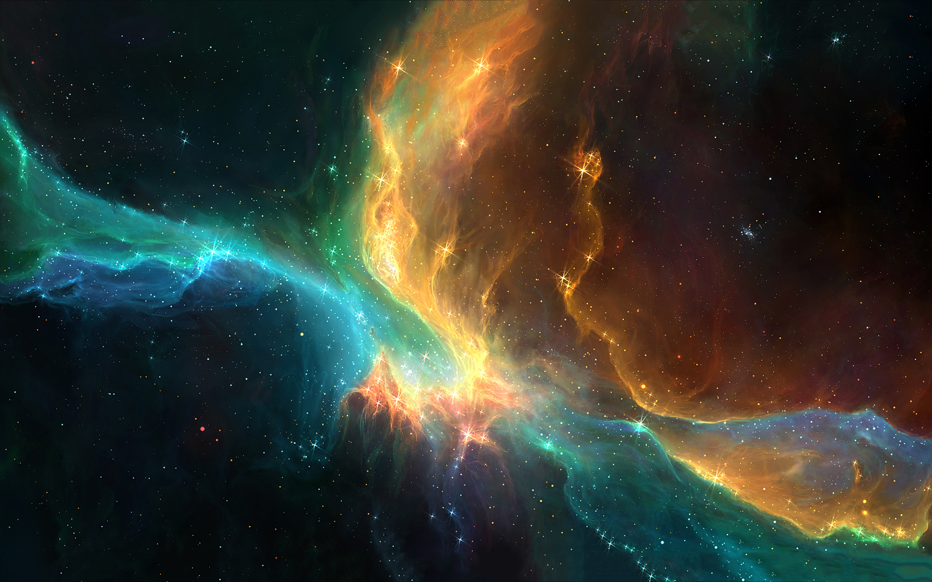 Space stars cosmic nebula